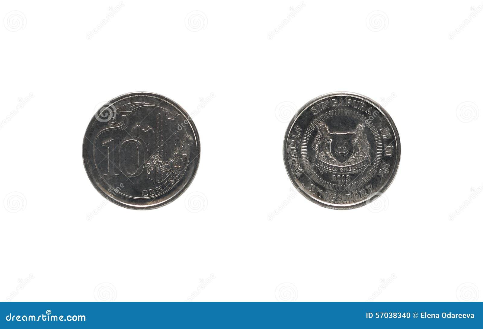 Moeda singapurense de dez centavos