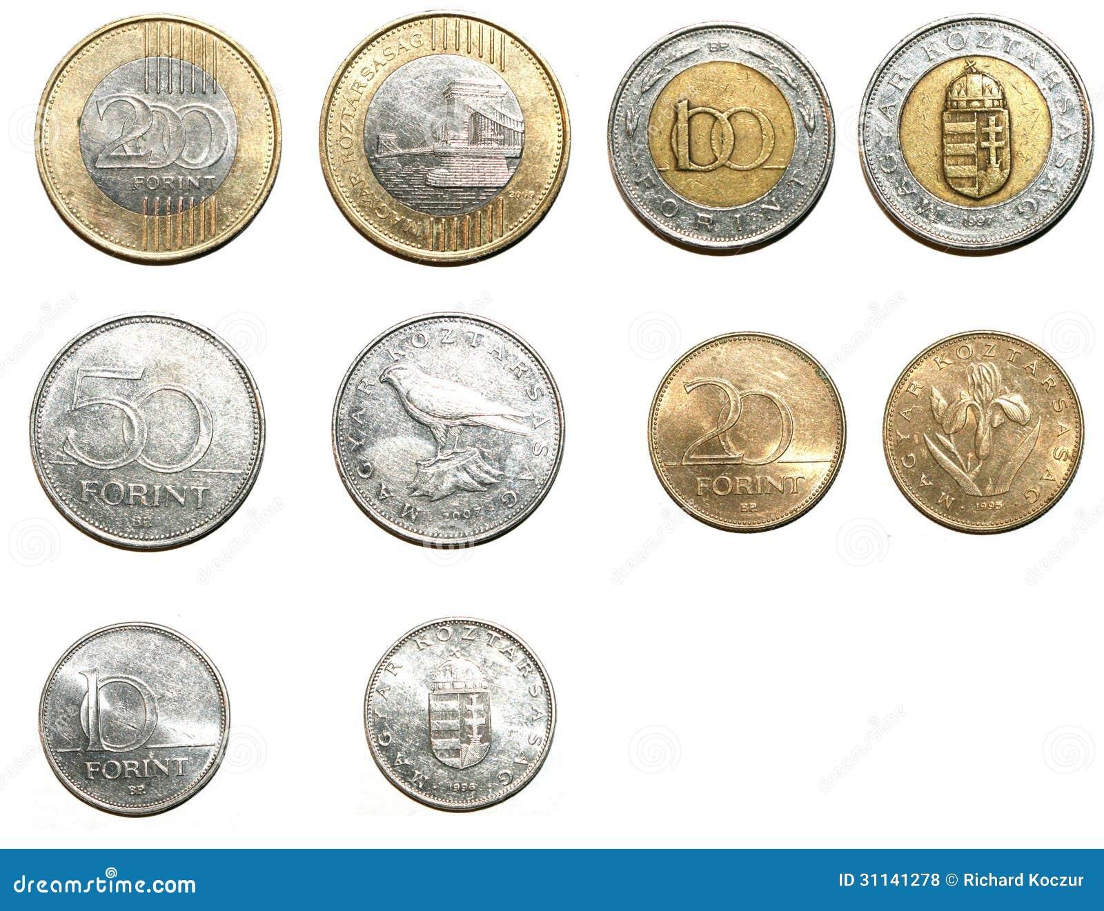 Moedas húngaras da forint