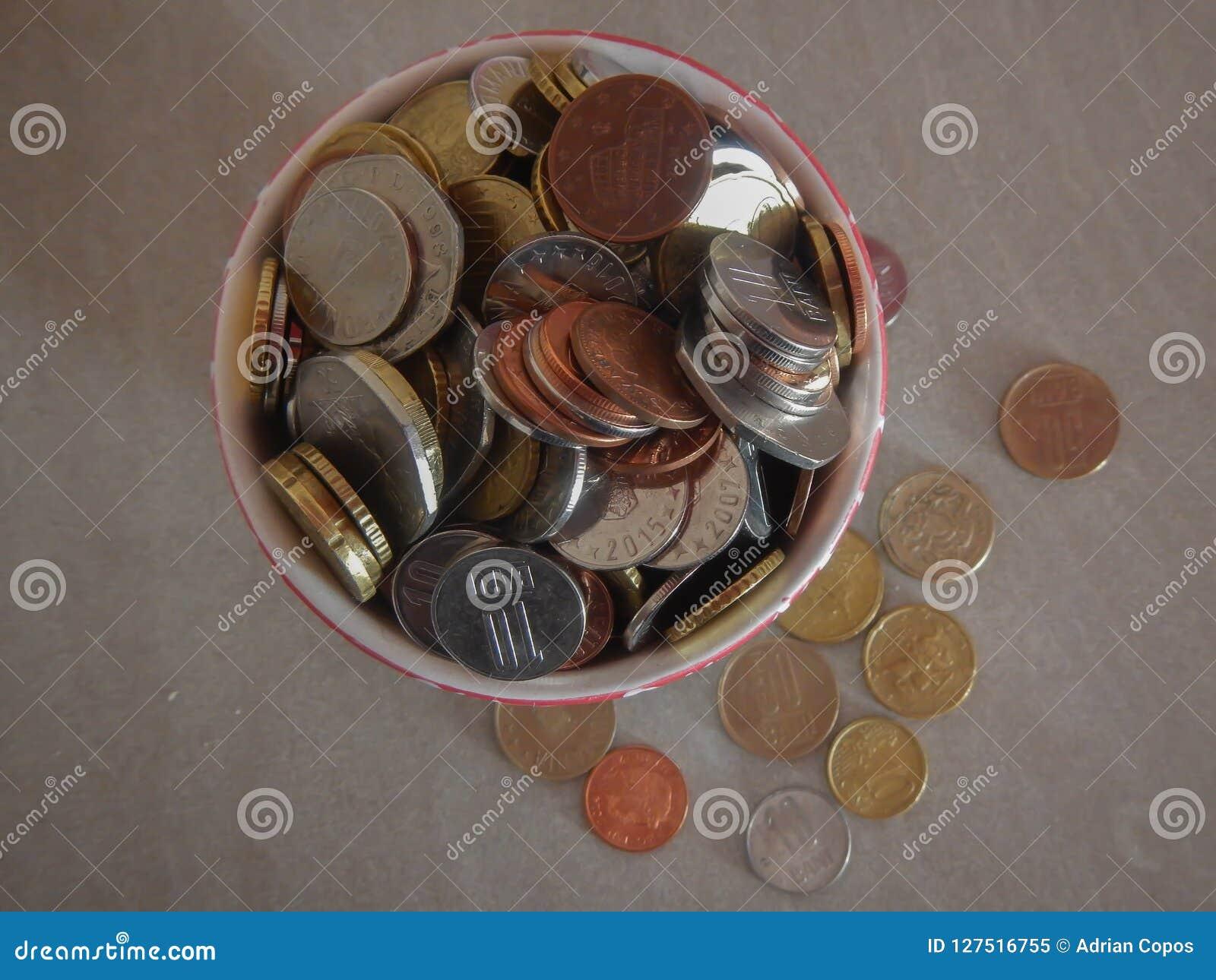Moedas na moeda europeia