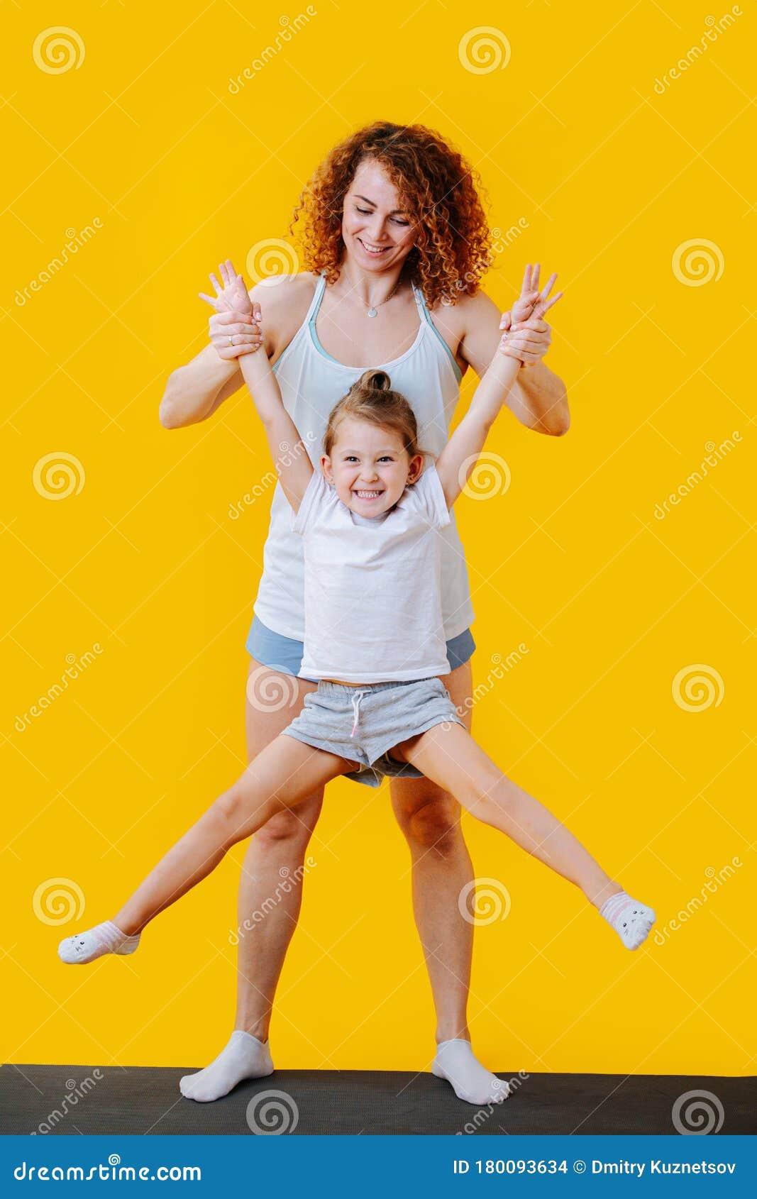 Atletische moeder en dochter