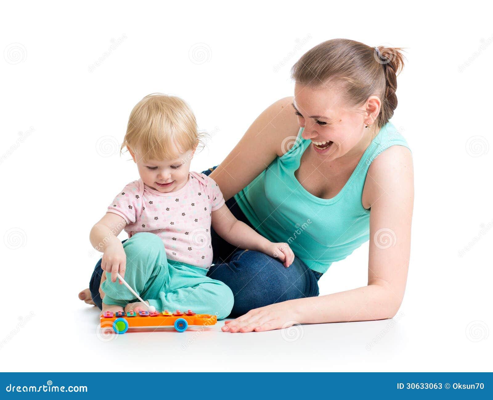 Moeder en babymeisjesspel