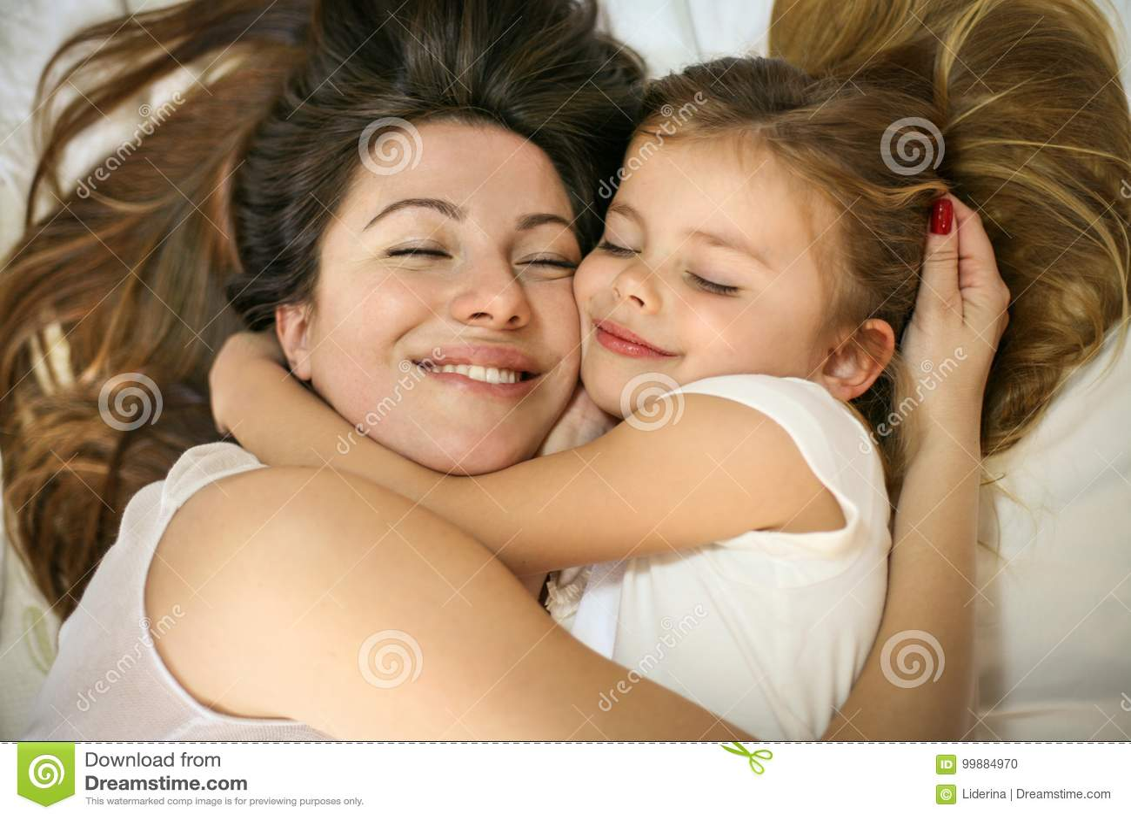 Geniet van deze moeder en dochter
