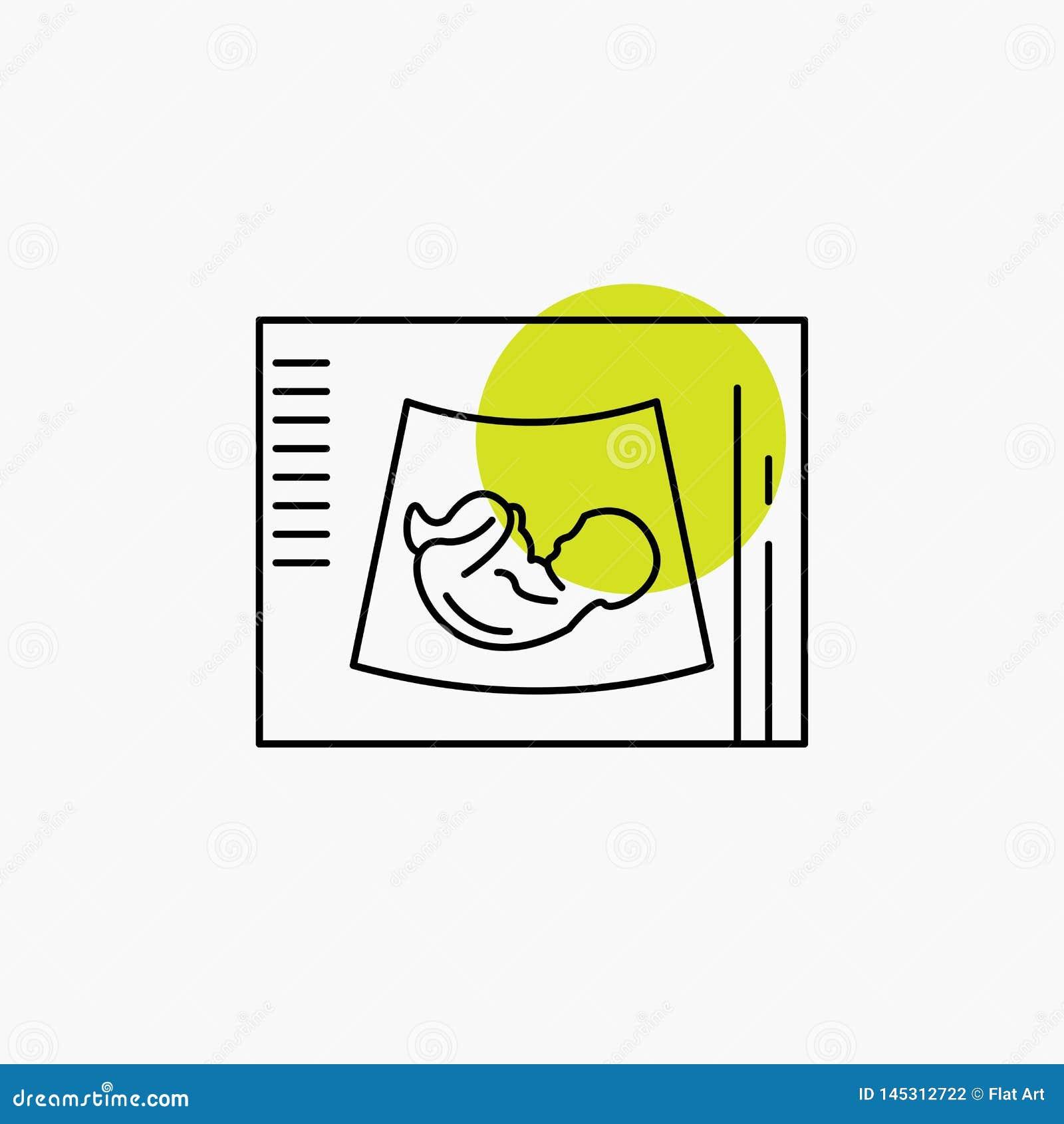 Moederschap, zwangerschap, sonogram, baby, het Pictogram van de ultrasone klanklijn