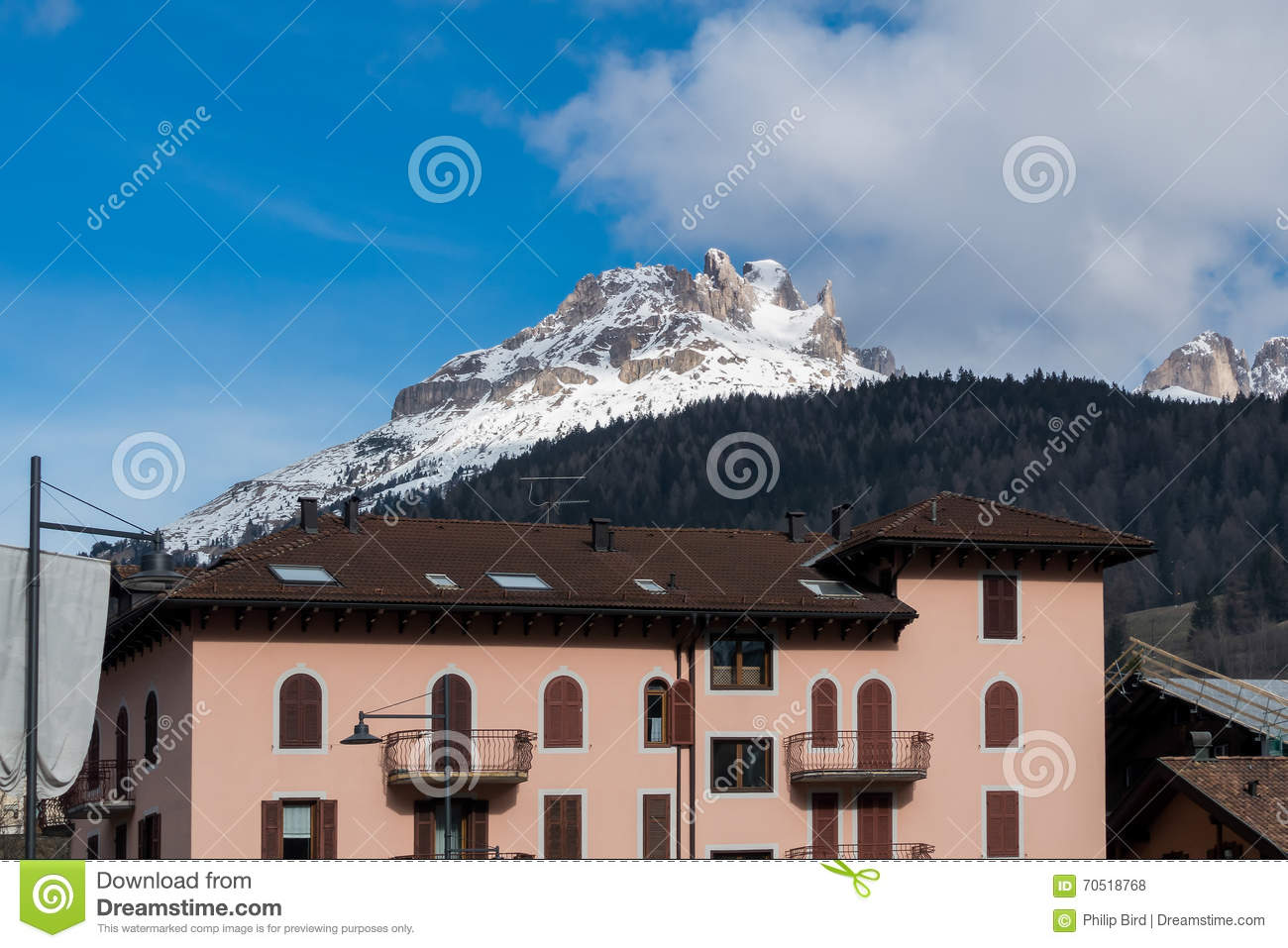 Moena Italy  city images : MOENA, TRENTINO/ITALY MARCH 26 : View of the Mountain above Moena ...