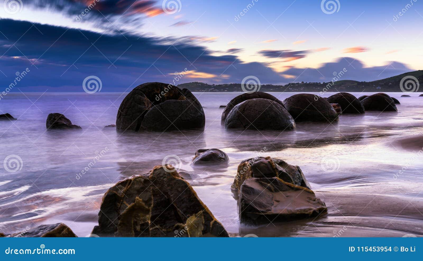 Moeraki Boulders at Sunrise