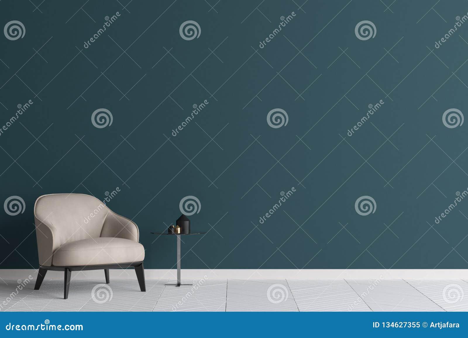 Mofa de la pared para arriba en fondo moderno de la sala de estar