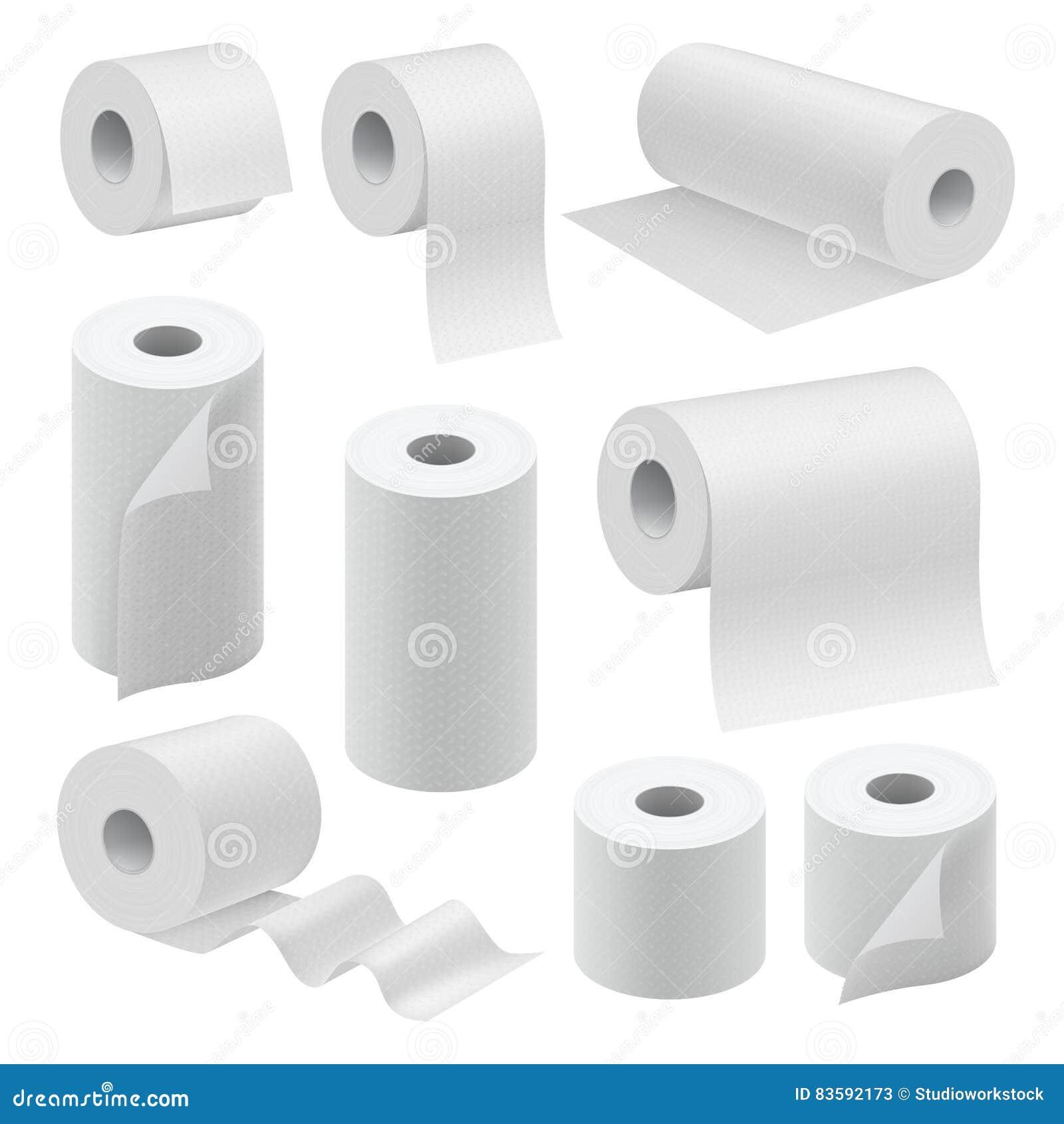 Mofa de papel realista del rollo instalada