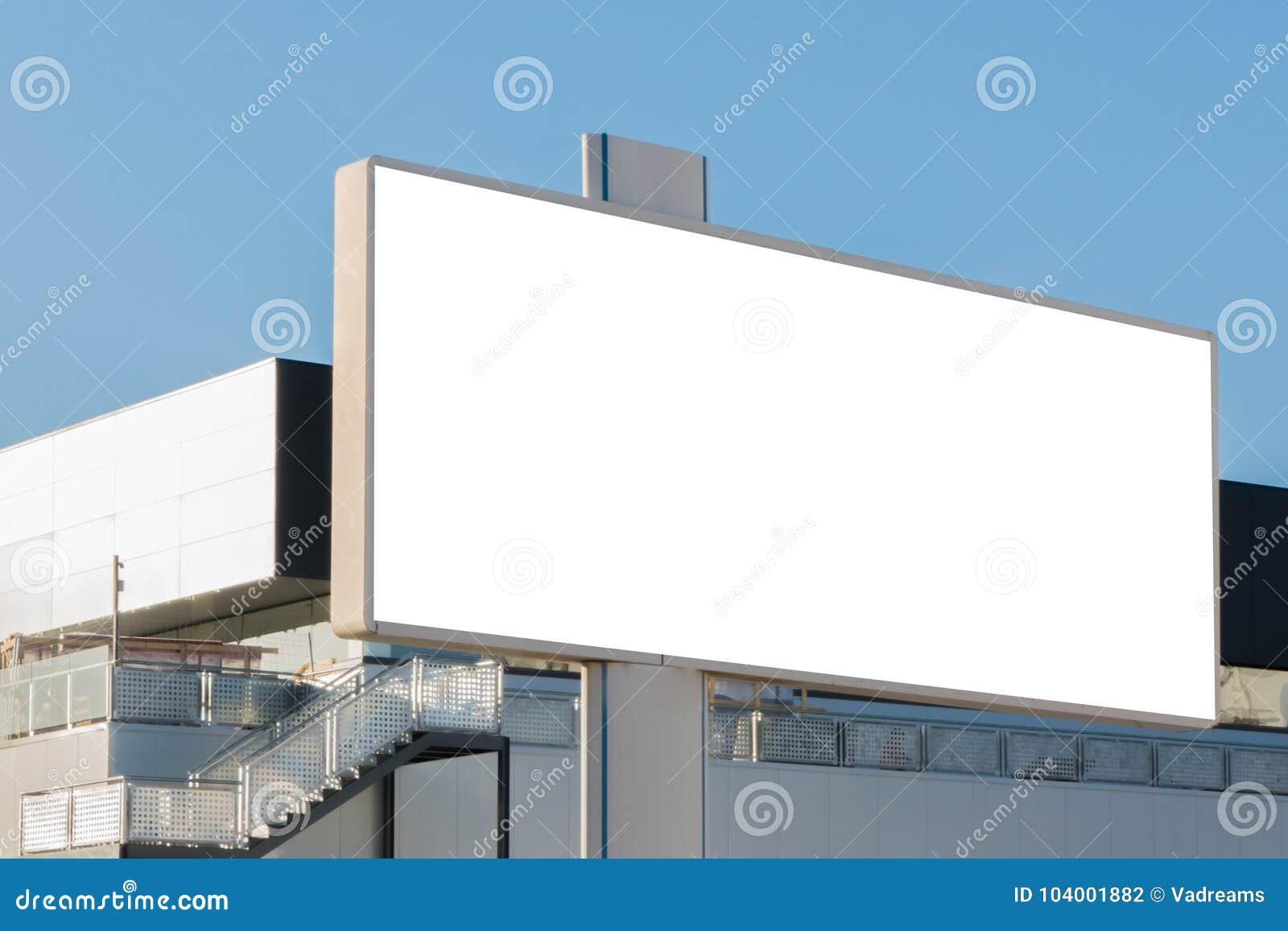 Mofa para arriba Cartelera en blanco, tablero de la información, haciendo publicidad del cartel