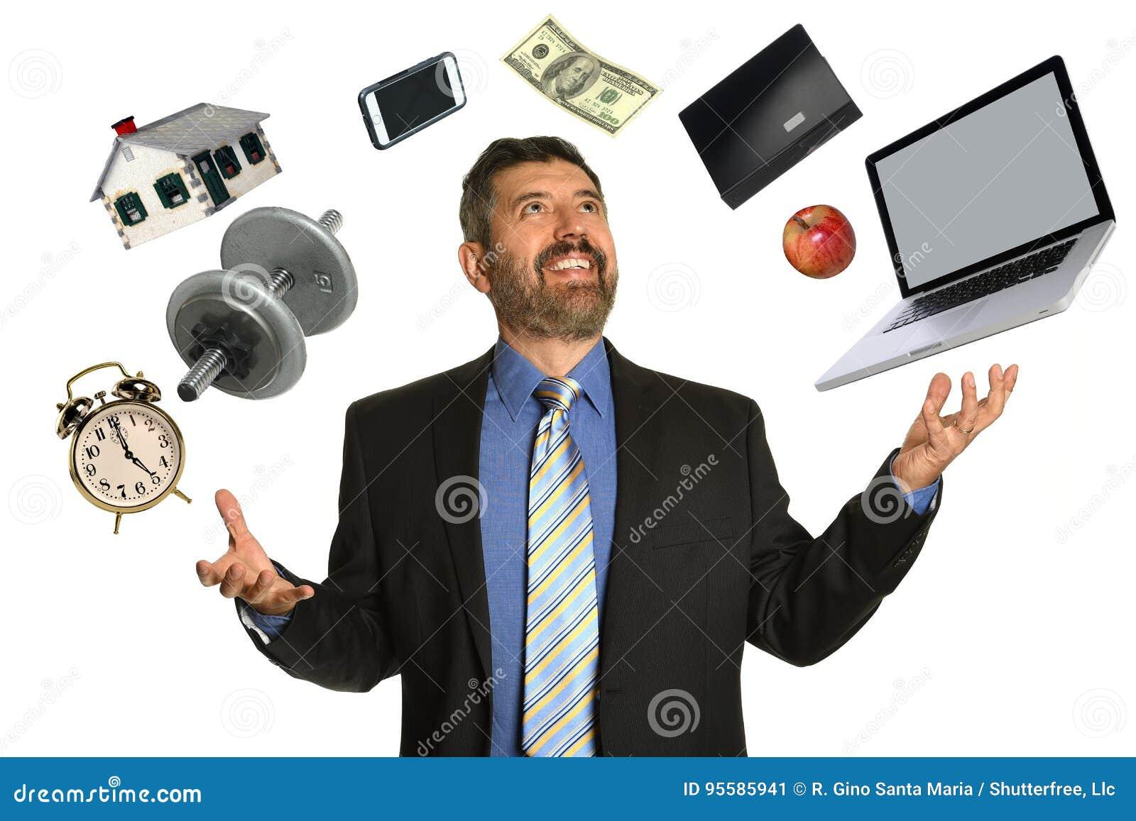 Mogen affärsman Juggling