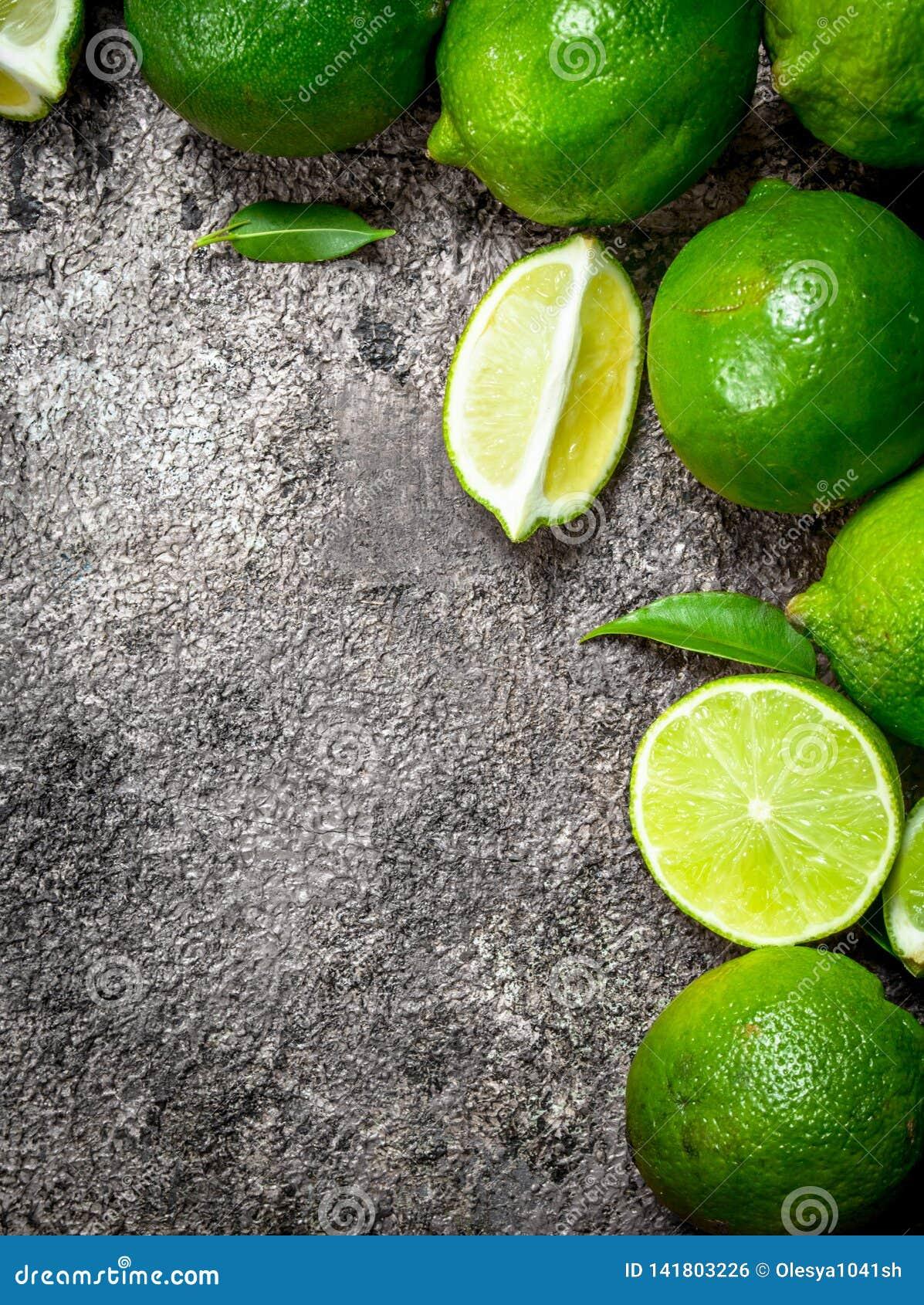 Mogen saftig limefrukt
