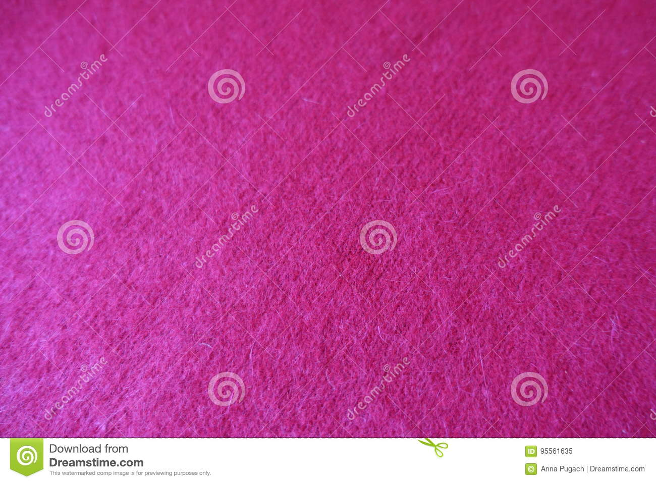 Mohair Red Handmade Plain Stitch Knit Fabric Stock Image Image Of