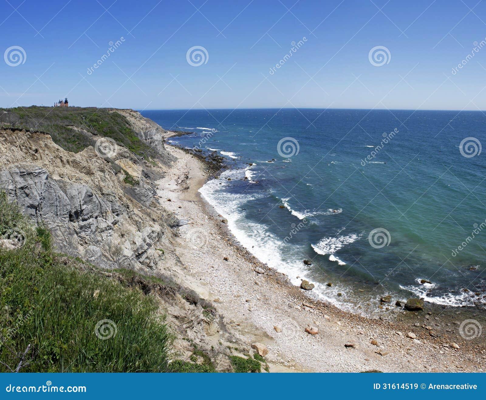 Block Island: Mohegan Bluffs Block Island RI Royalty Free Stock Images
