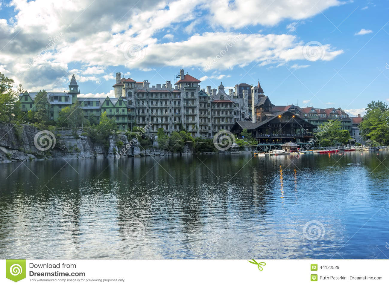 Mohonk Mountain House Ny Fall Royalty Free Stock