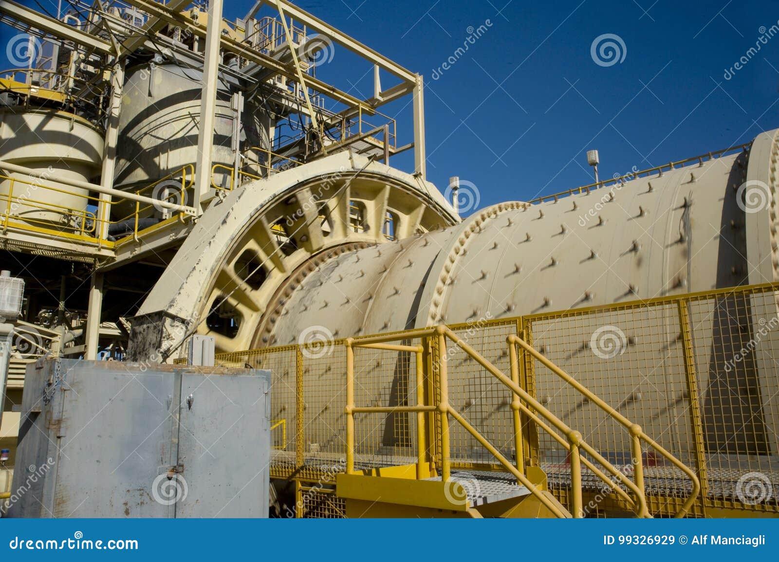 Moinho de giro de mineração