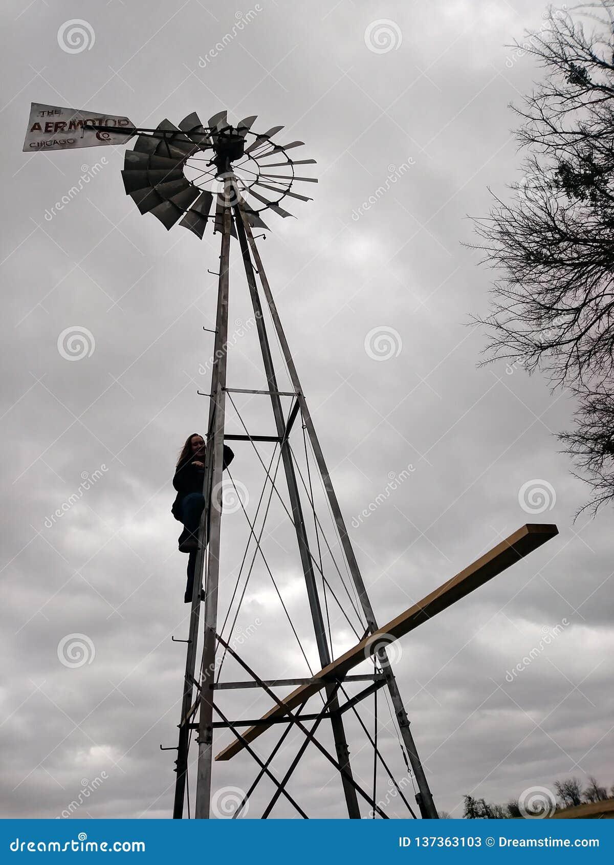 Moinho de vento do vintage