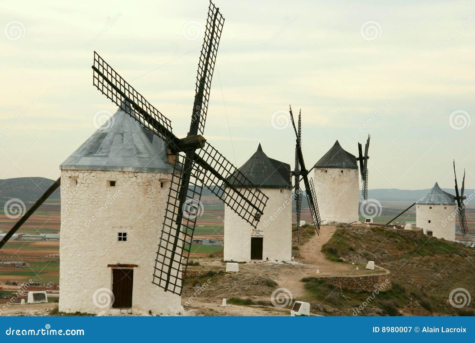 Moinhos de vento alinhados