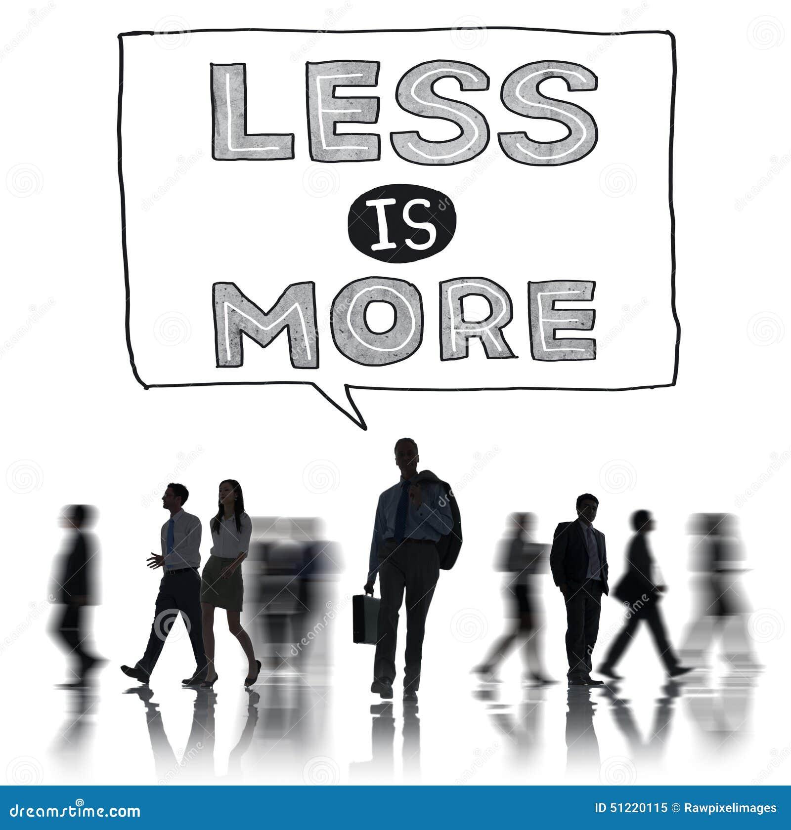 Moins est concept efficace de complexité de simplicité plus minimale