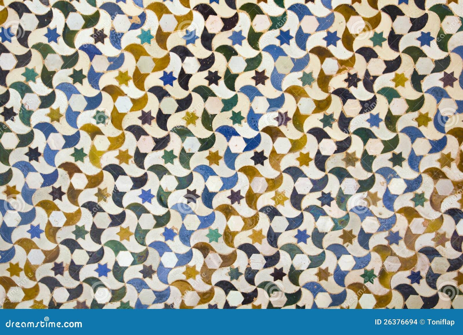 Mosaic in Alhambra, Granada.