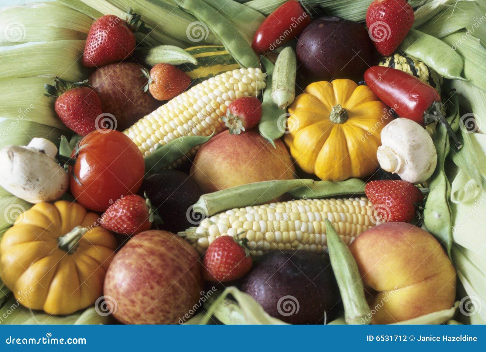 Moisson Dautomne Des Fruits Et Légumes Photographie stock - Image ...