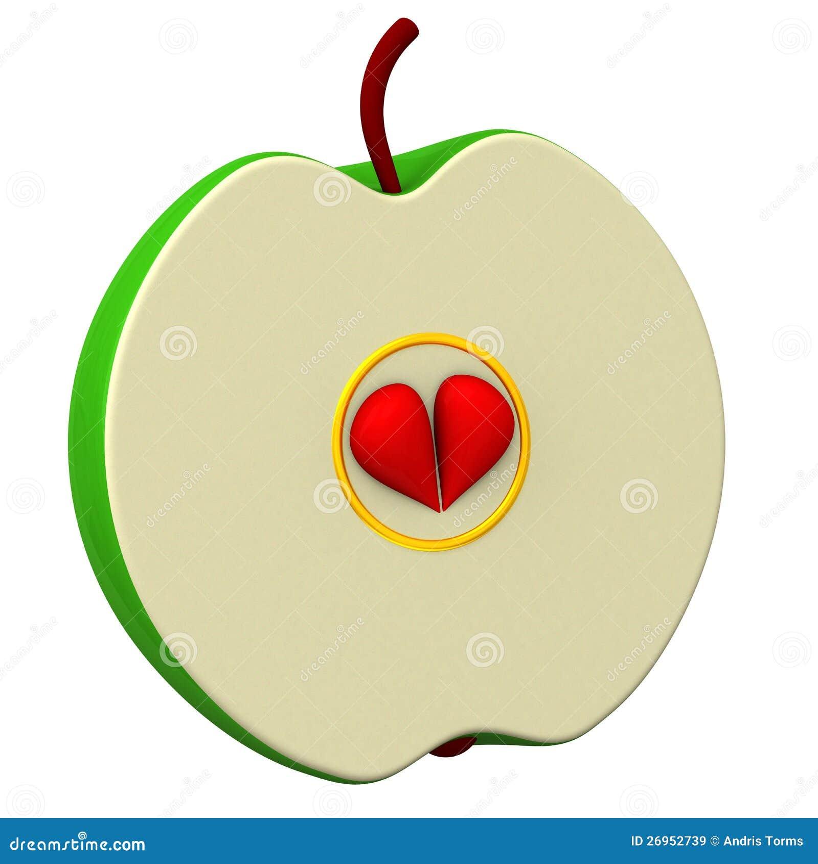 Moitié d une pomme 3d