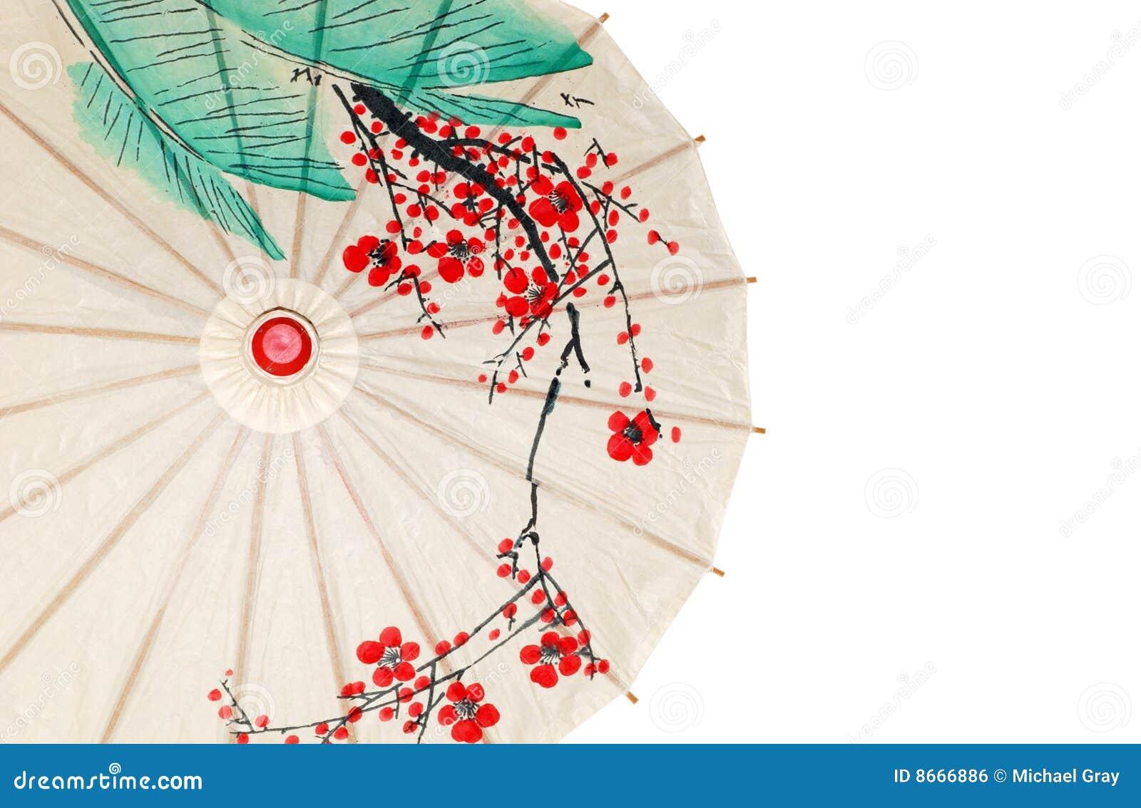 Moitié de parapluie oriental d isolement