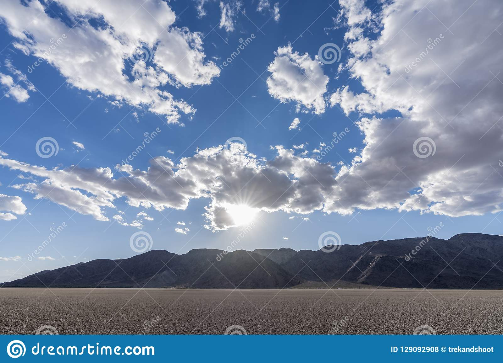Mojave National Preserve Soda Dry Lake with Clouds