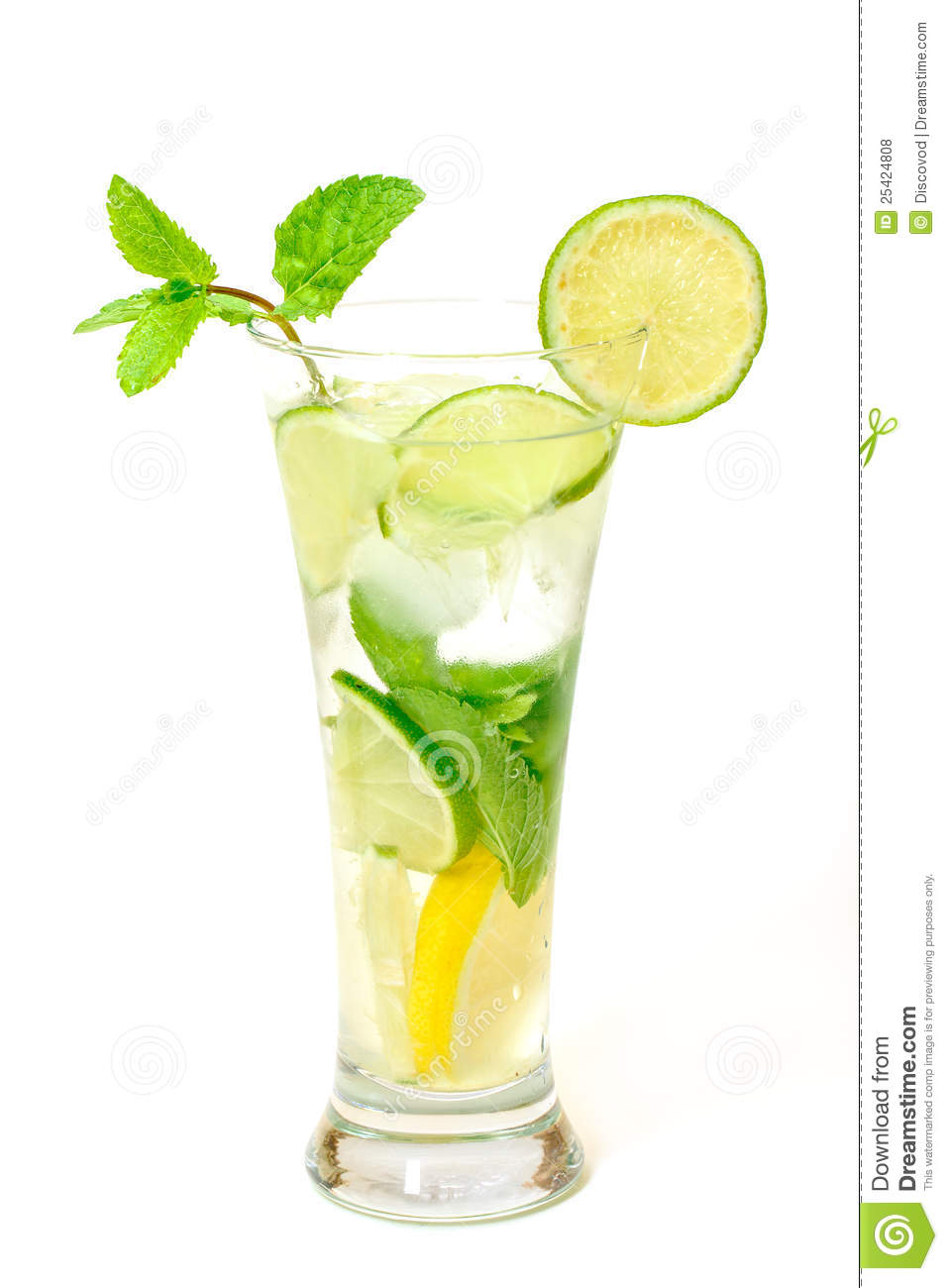 Mojito Cocktail In A Glass Beaker Royalty Free Stock Photos - Image ...
