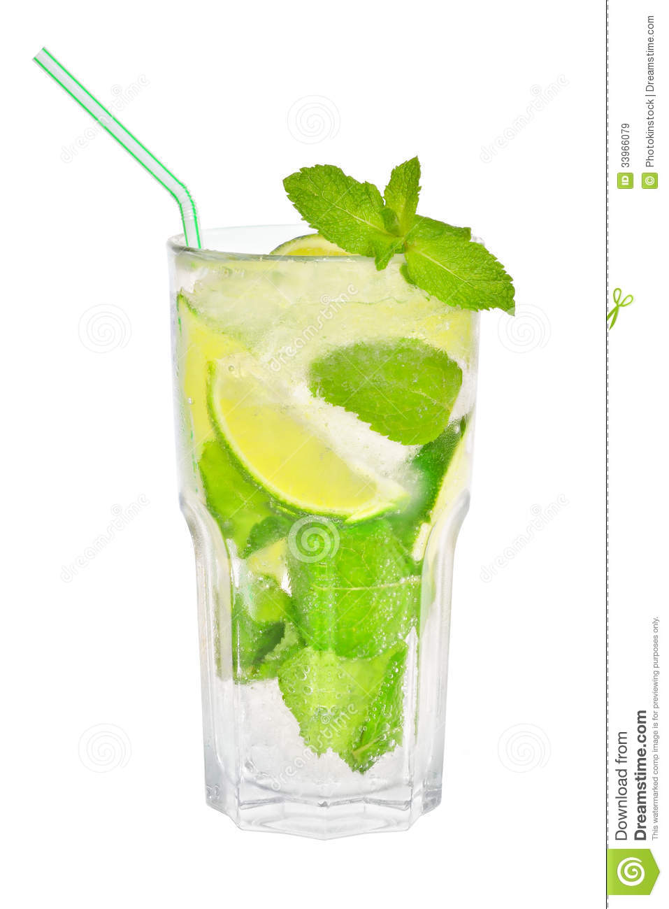 mojito cocktail in a tall glass royalty free stock images image 33966079. Black Bedroom Furniture Sets. Home Design Ideas