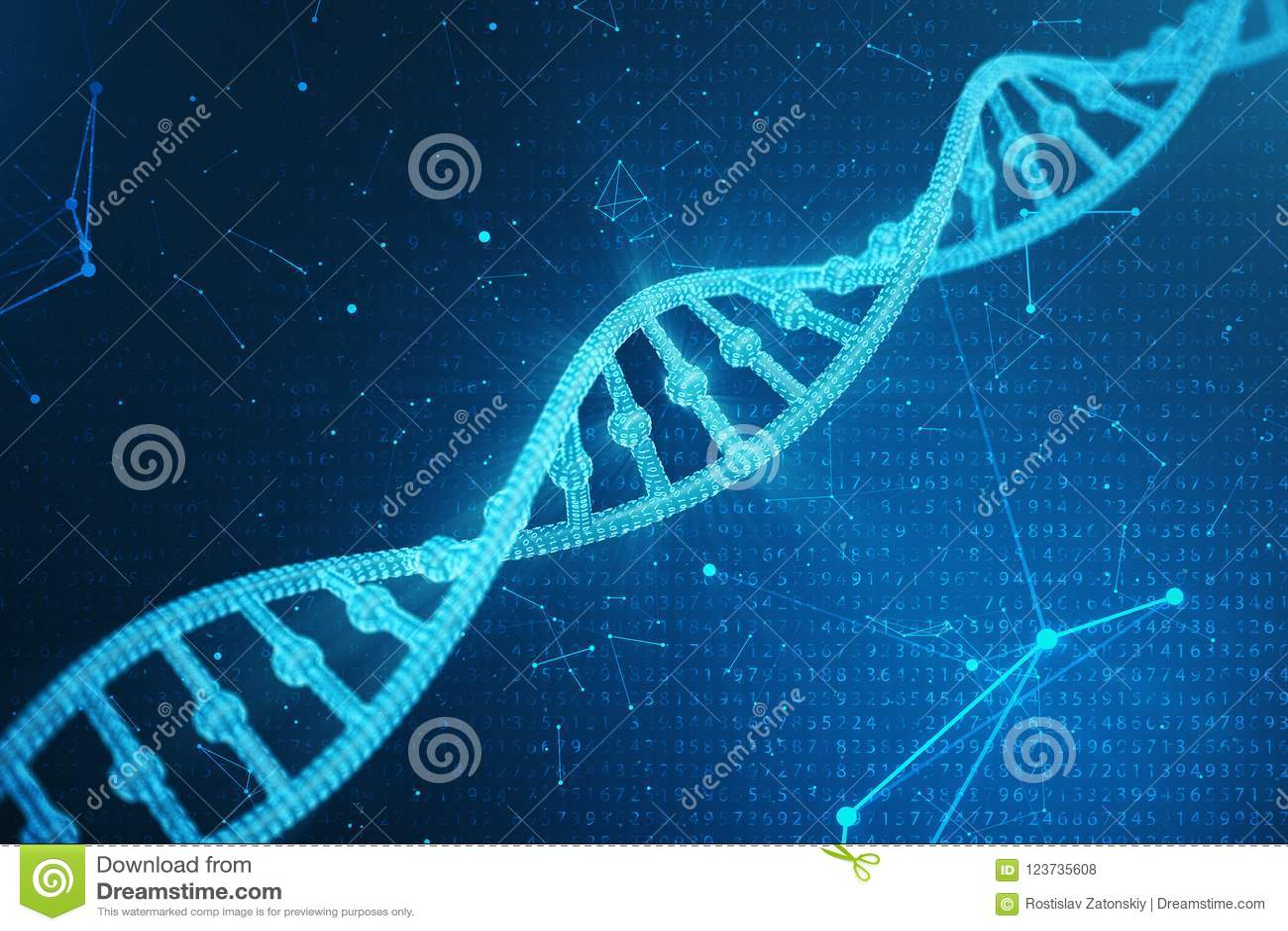 Molécula De La Dna De Digitaces Estructura Genoma Humano