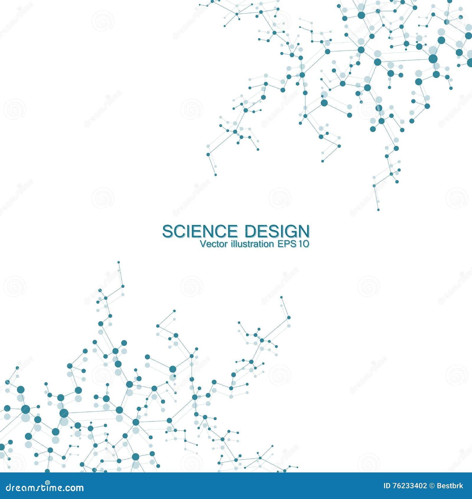 Molécula De La Estructura De La Dna Y De Las Neuronas átomo