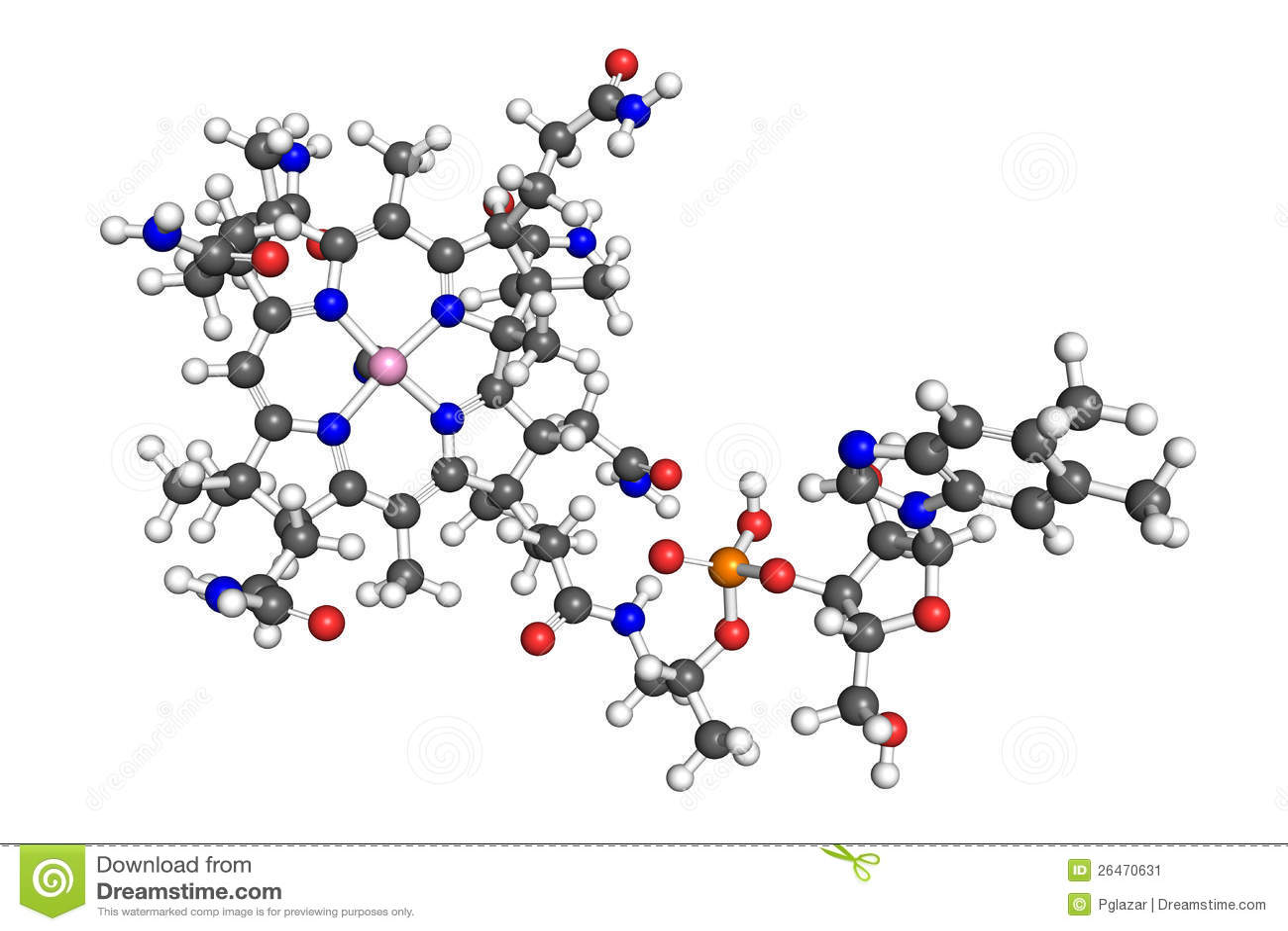 Molécula de la vitamina B12