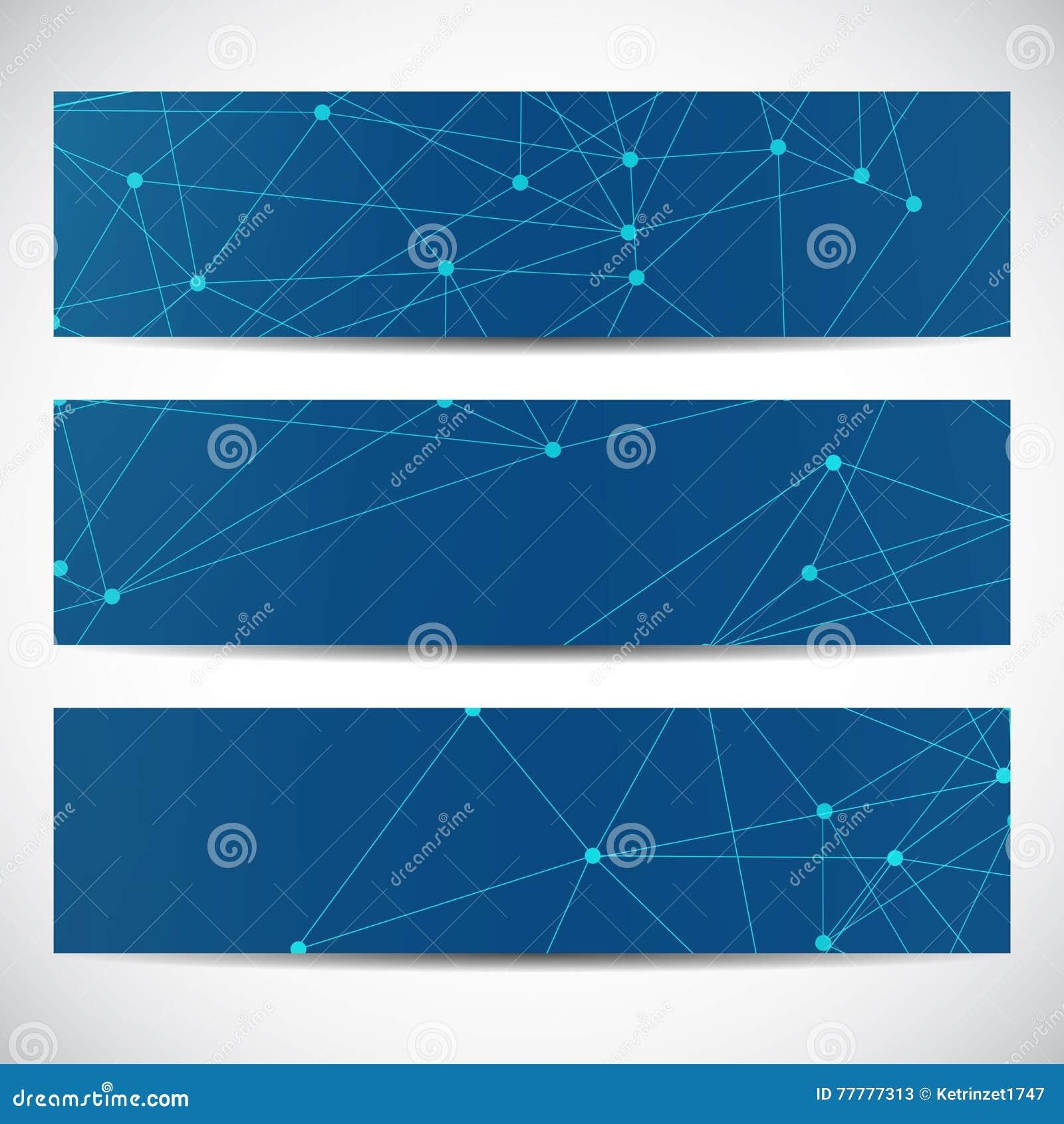 Molécula geométrica abstrata e comunicação das bandeiras A ciência e a tecnologia projetam, ADN da estrutura, química, médica
