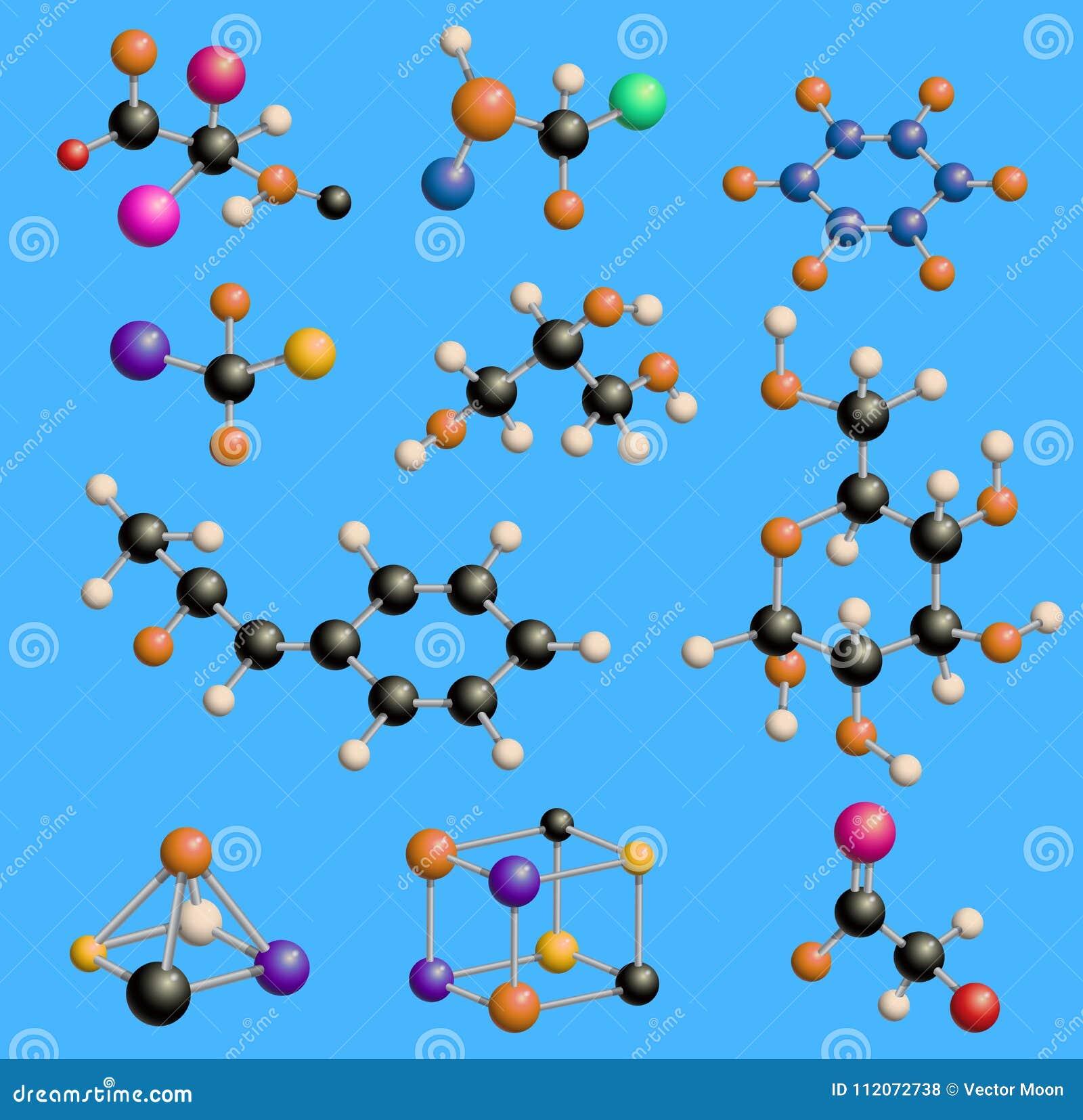 Moléculas Moleculares De La Tecnología De La Ciencia De Las