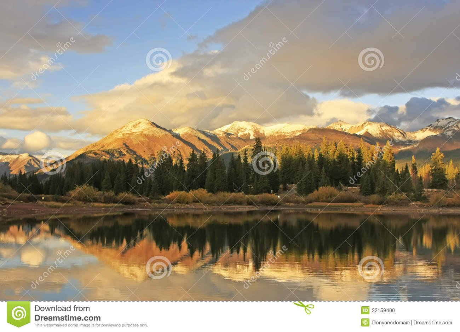 Molas sjö och visarberg, Weminuche vildmark, Colorado