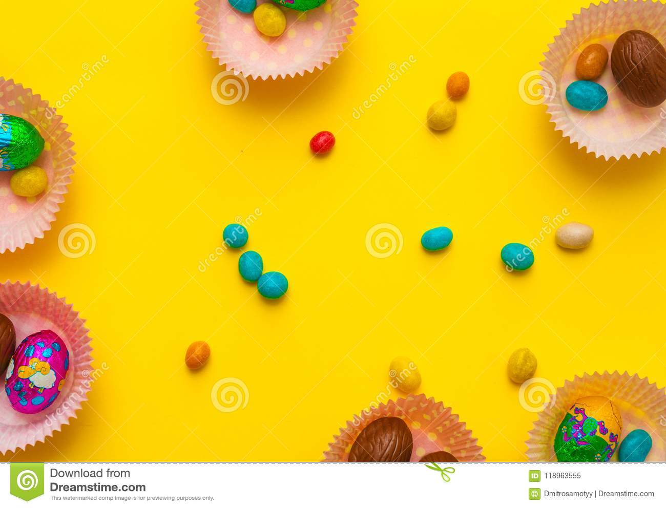 Mold with eggs, chocolate. Delicious chocolate easter eggs , sweets on background