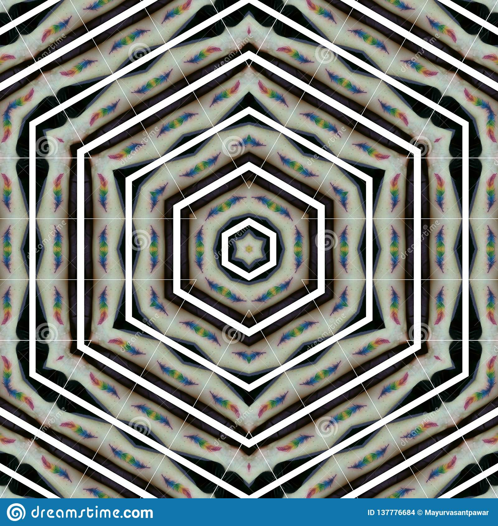 Molde abstrato do projeto da mandala