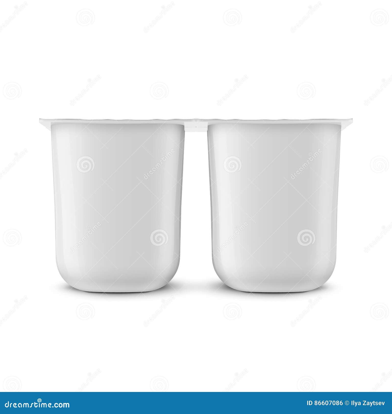 Molde branco do potenciômetro do iogurte