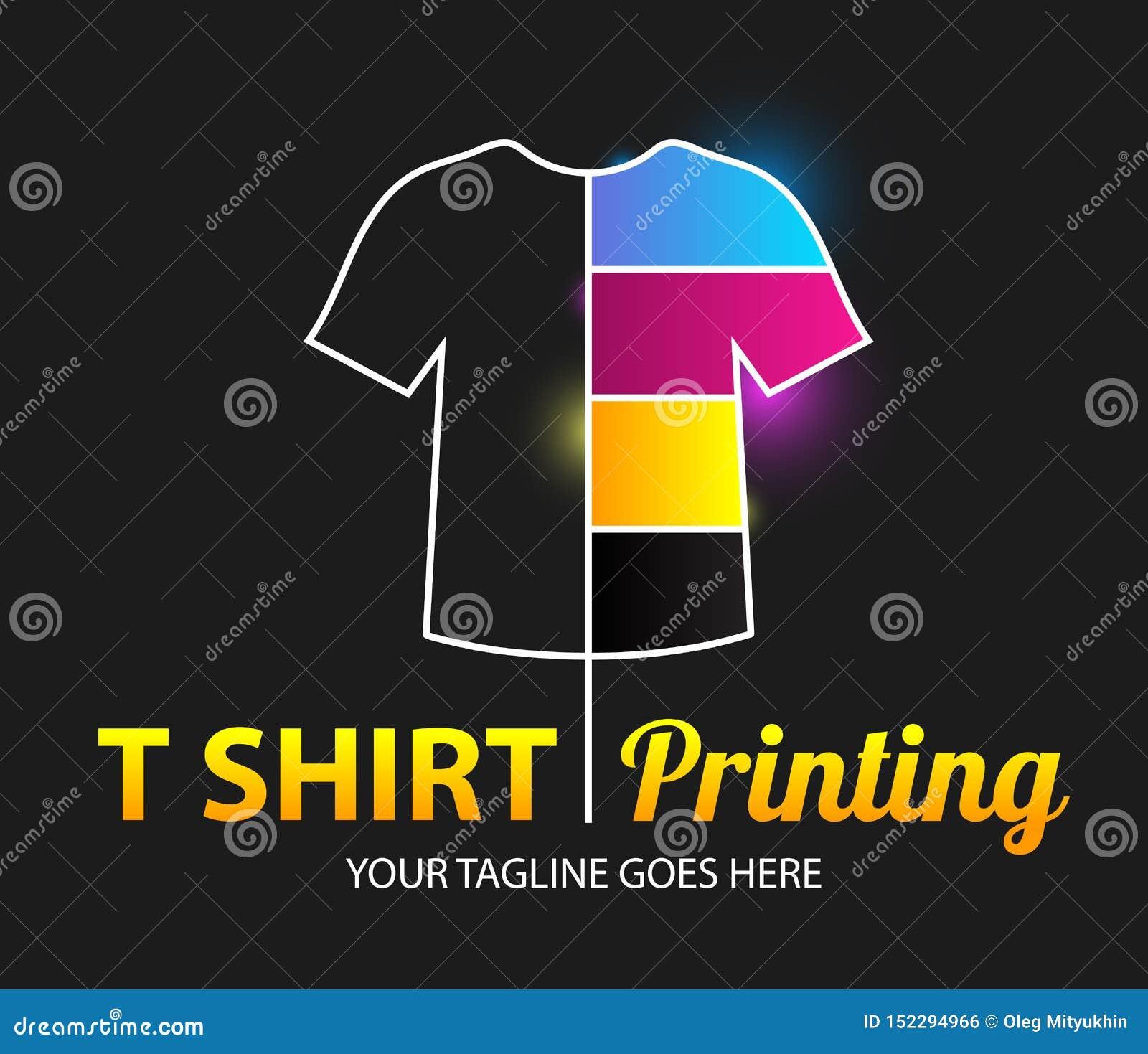 Molde colorido moderno do logotipo do vetor do sumário da impressão do t-shirt Para a tipografia, cópia, identidade corporativa,