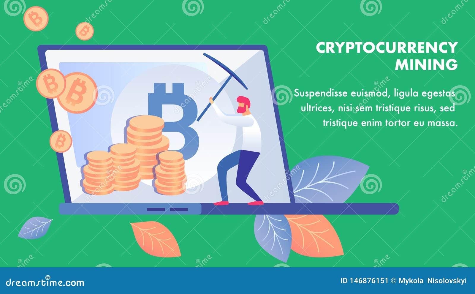 Molde da bandeira do negócio da mineração de Cryptocurrency