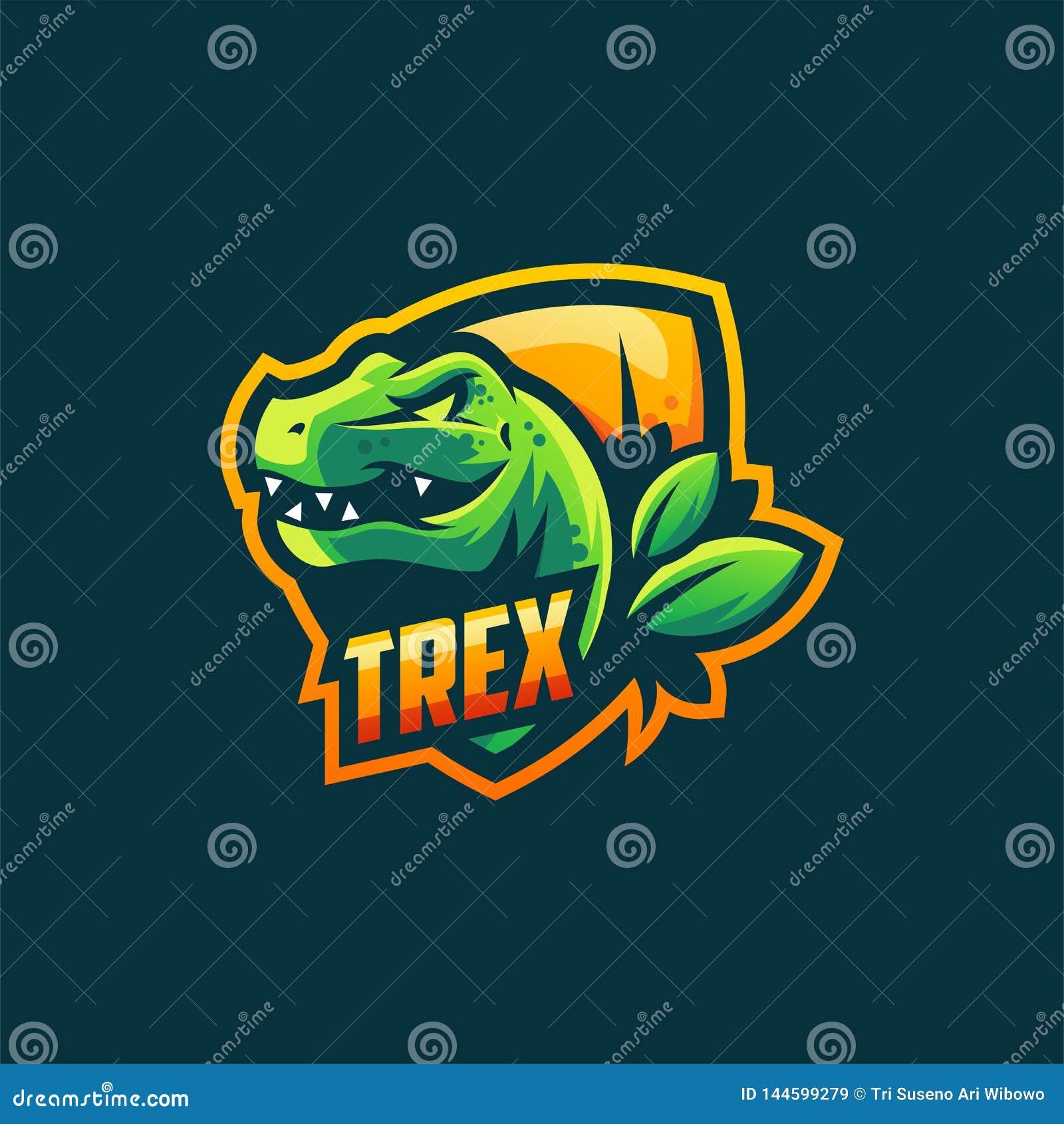 Molde da ilustração do vetor do projeto do logotipo de Trex