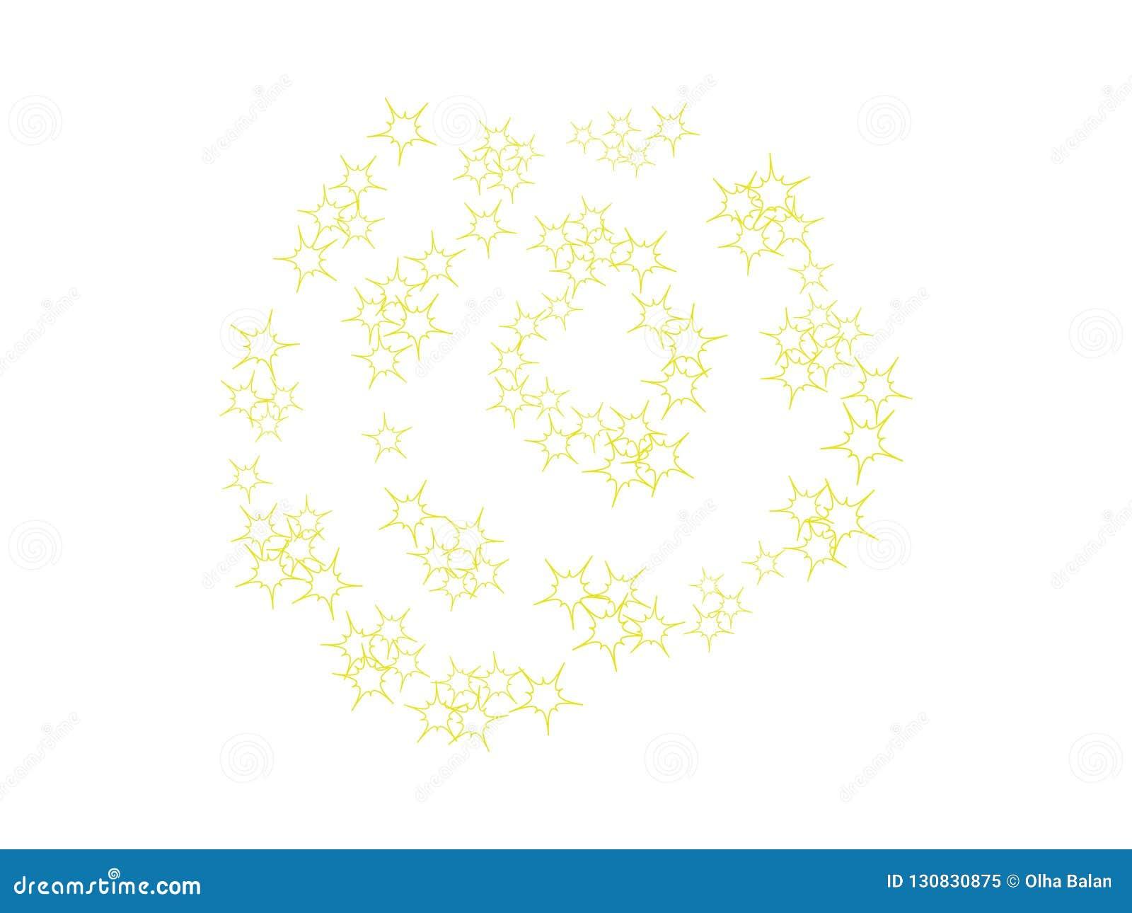 Molde das estrelas da faísca