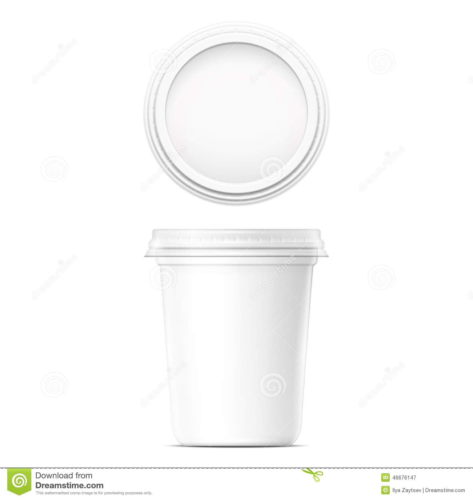 Molde de creme branco do potenciômetro
