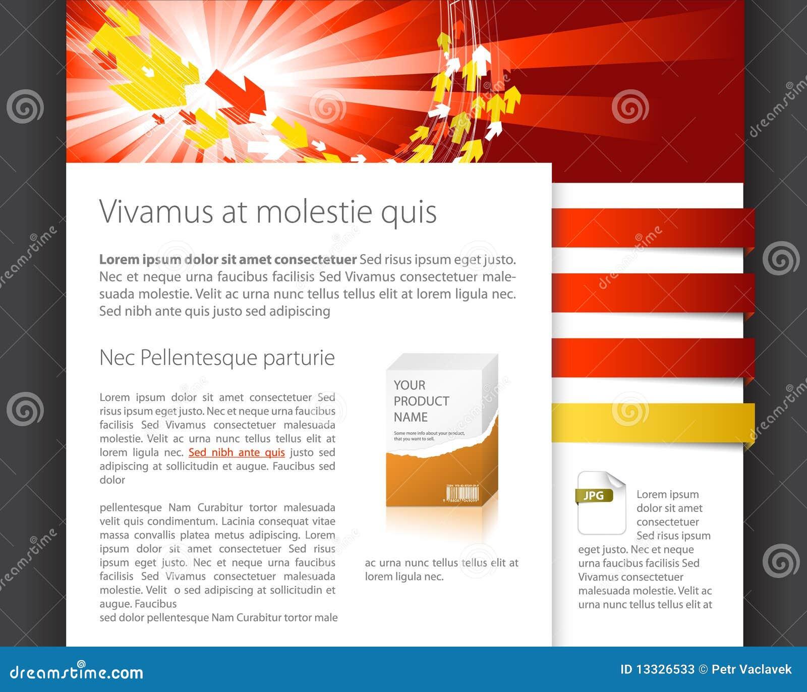 Molde dinâmico do Web site