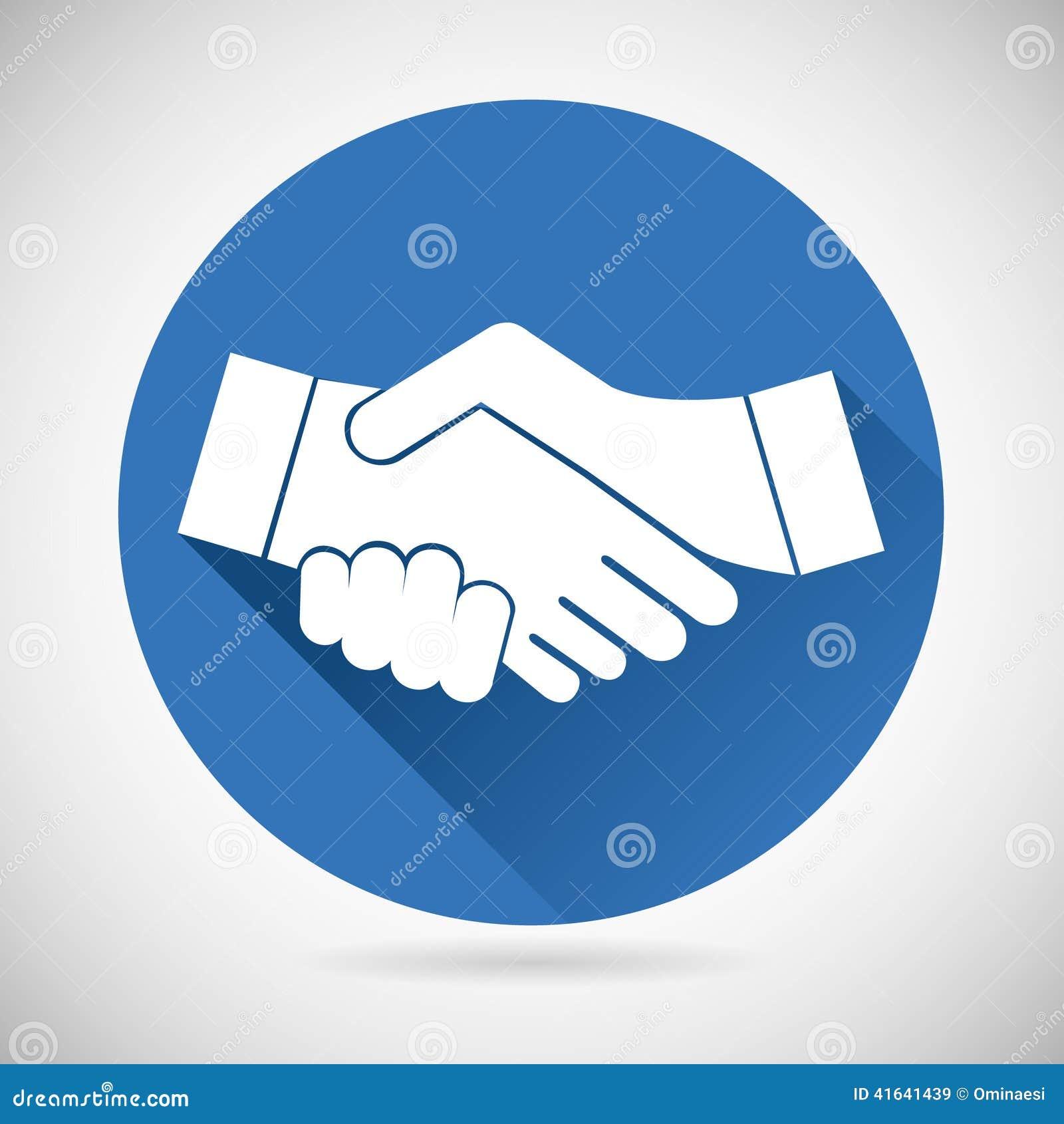 Molde do ícone do aperto de mão do símbolo da parceria
