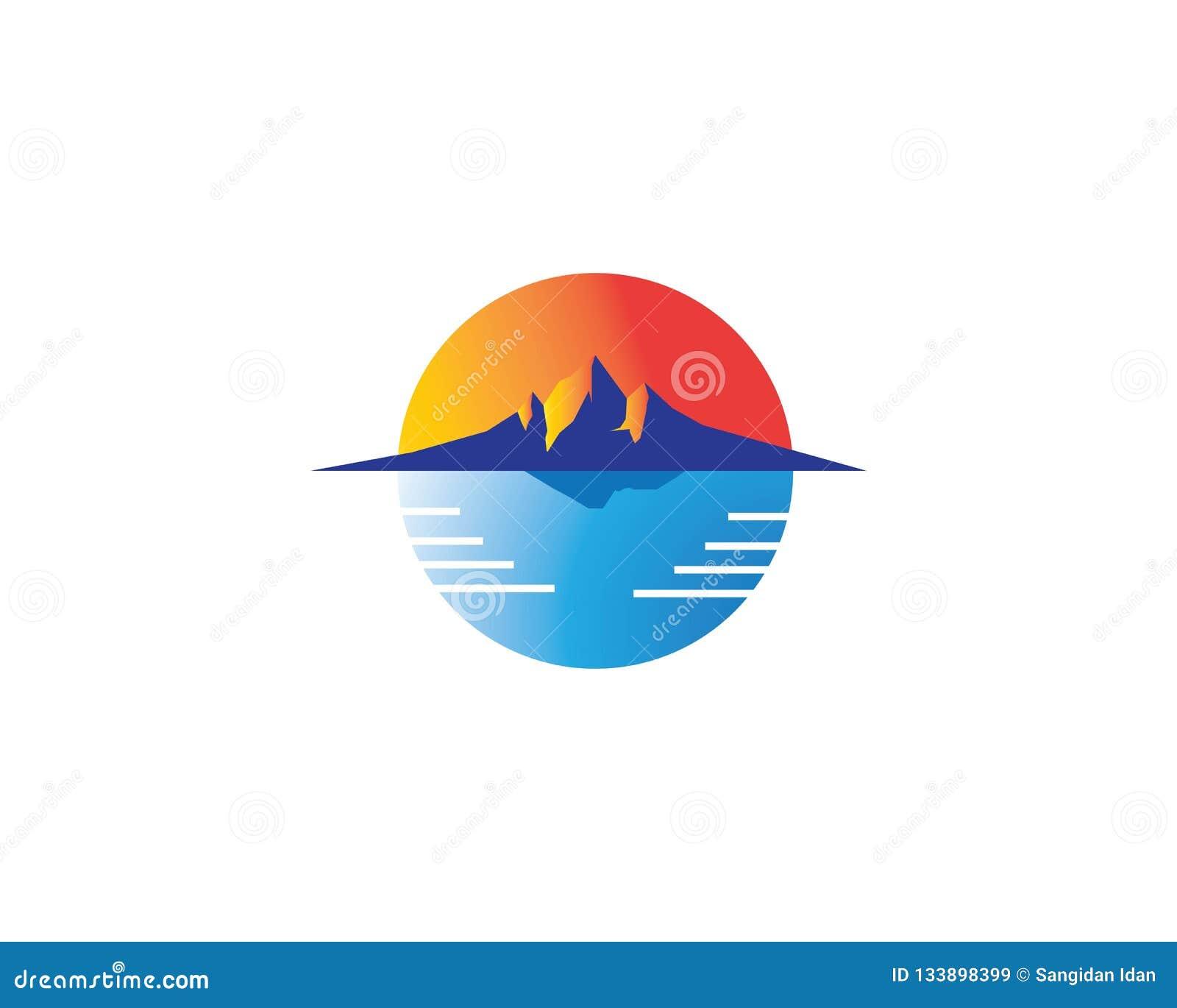 Molde Do ícone Do Vetor Do Logotipo Do Ilustration Do Sol Ilustração