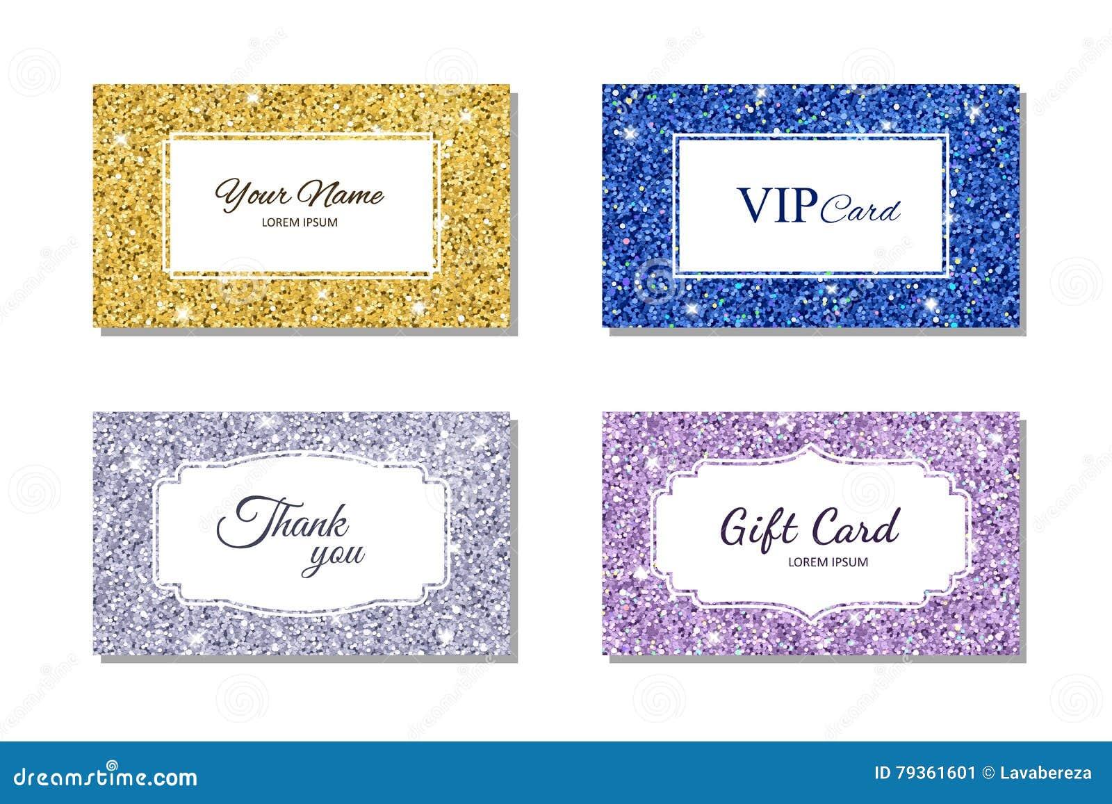Molde do cartão com textura brilhante do brilho Cartão telefônico, vale-oferta, cartão do VIP Ilustração do vetor