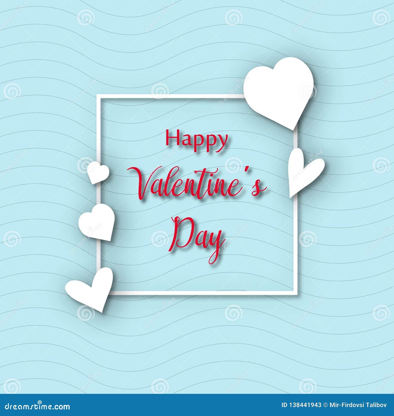 Molde do cartão de Valentine Day, projeto com coração vermelho, conceito da celebração do dia de são valentim