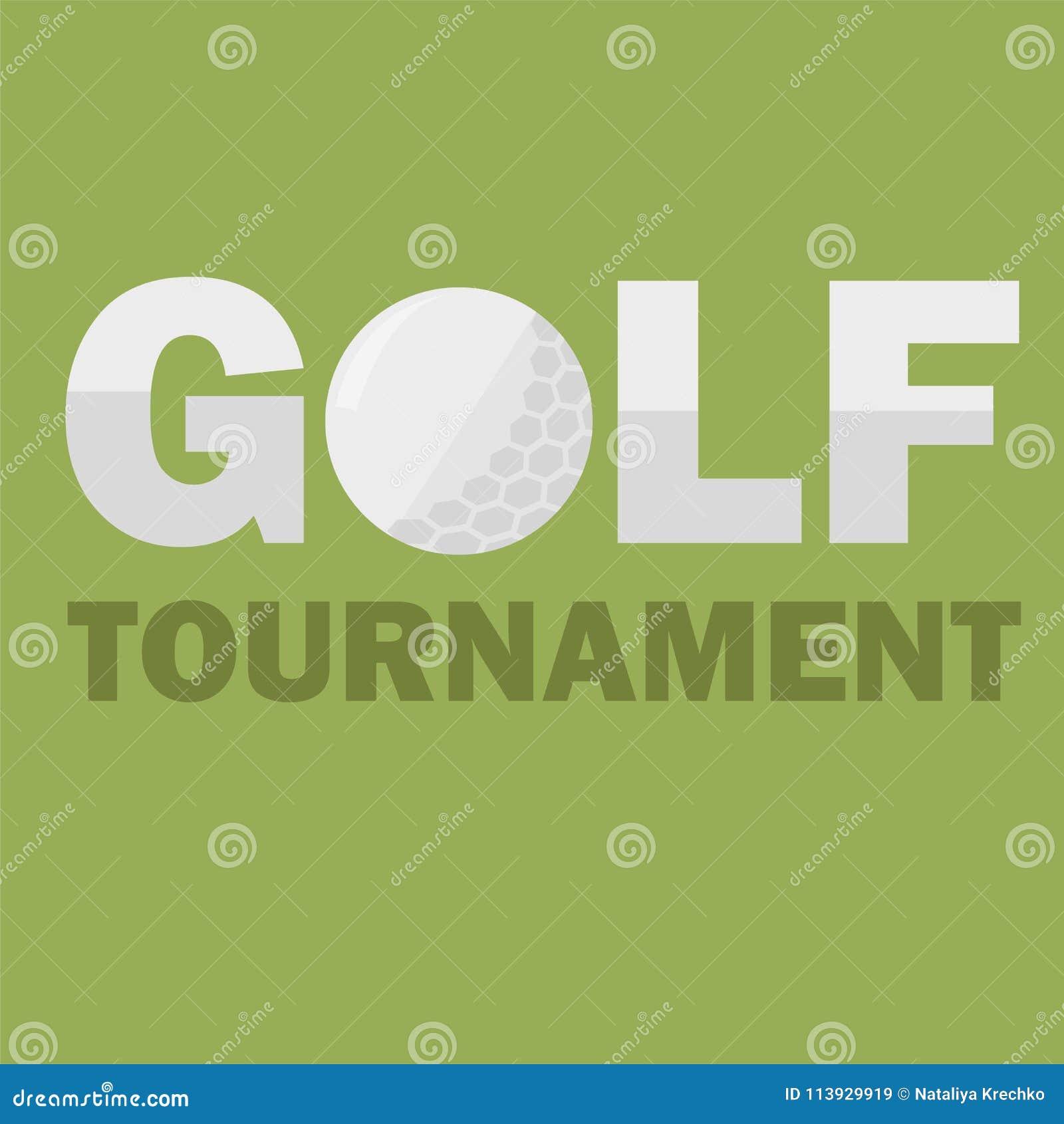 Molde do cartaz do competiam do golfe Projeto do insecto Ilustração do vetor