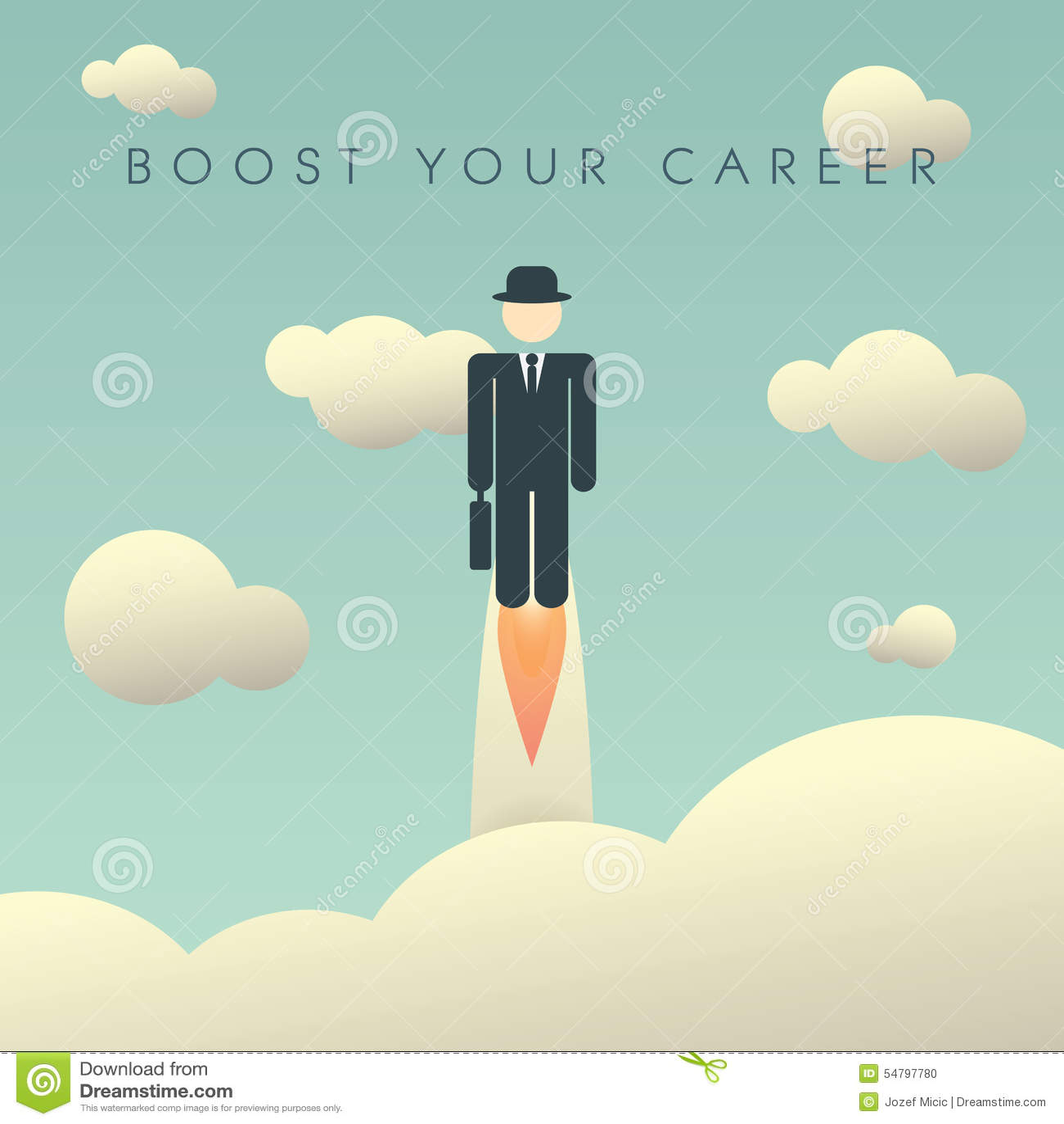 Molde do cartaz do desenvolvimento de carreira com