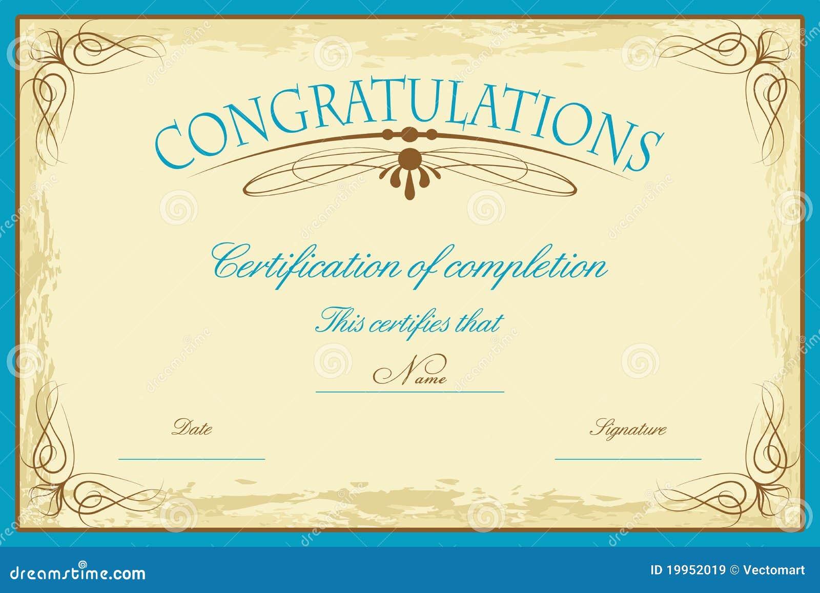 Molde do certificado